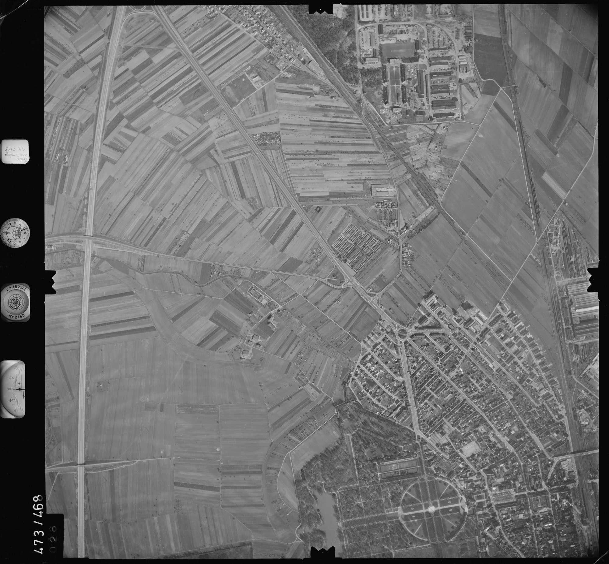 Luftbild: Film 100 Bildnr. 26, Bild 1