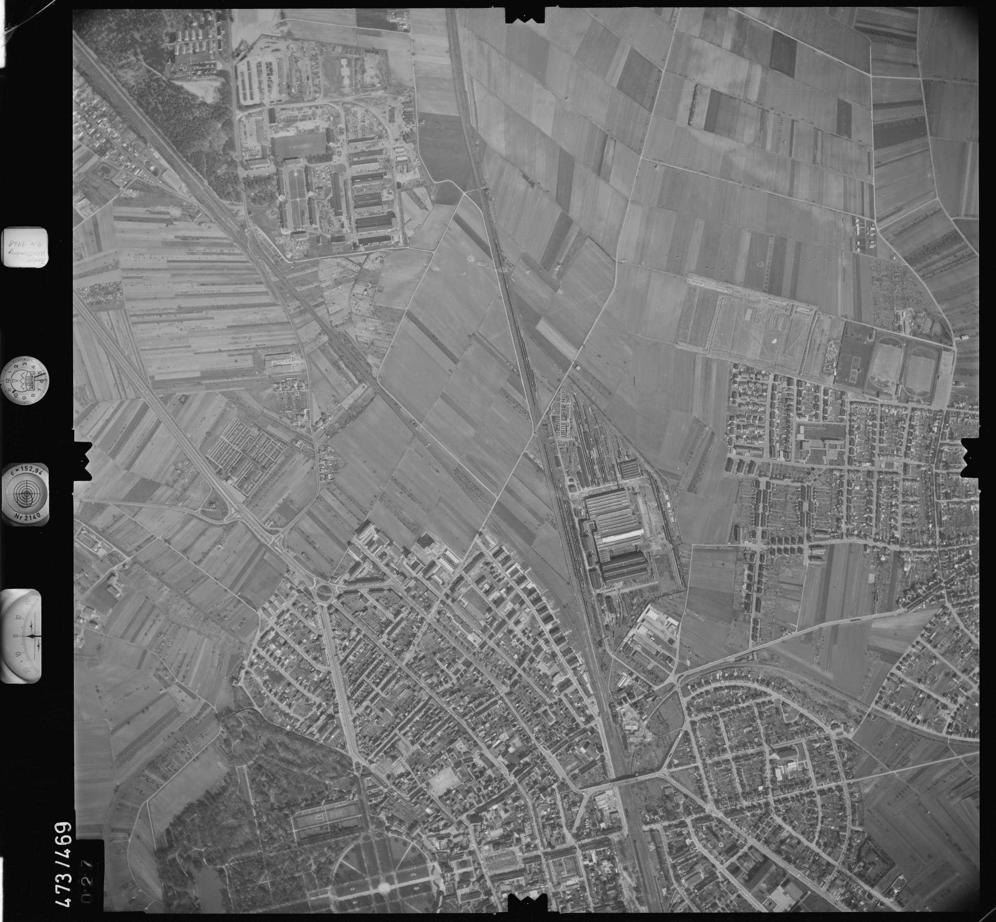 Luftbild: Film 100 Bildnr. 27, Bild 1