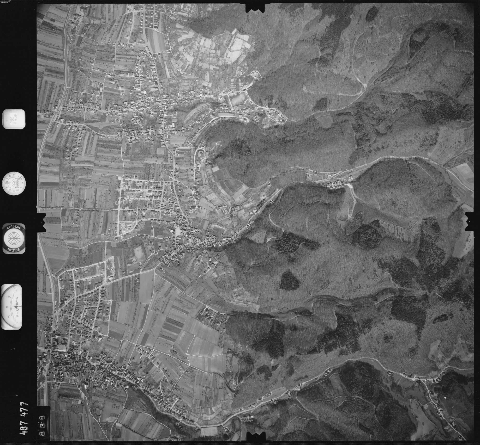 Luftbild: Film 888 Bildnr. 838, Bild 1