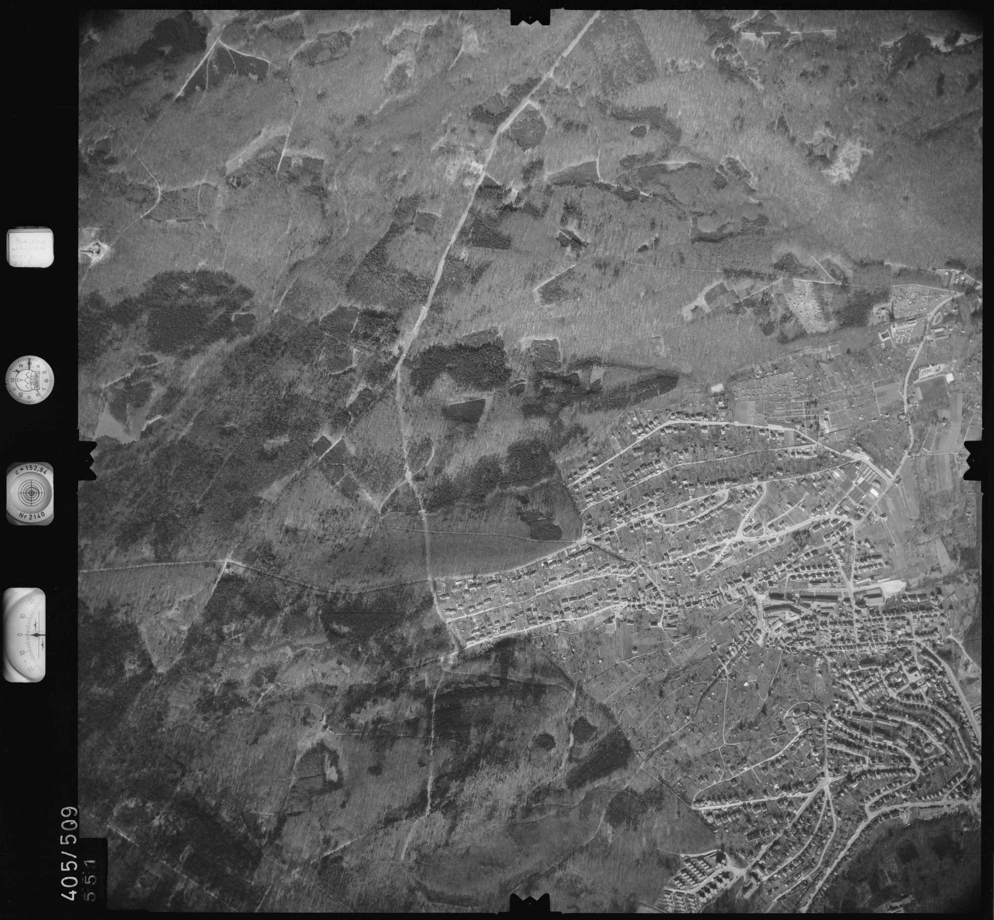 Luftbild: Film 10 Bildnr. 551, Bild 1