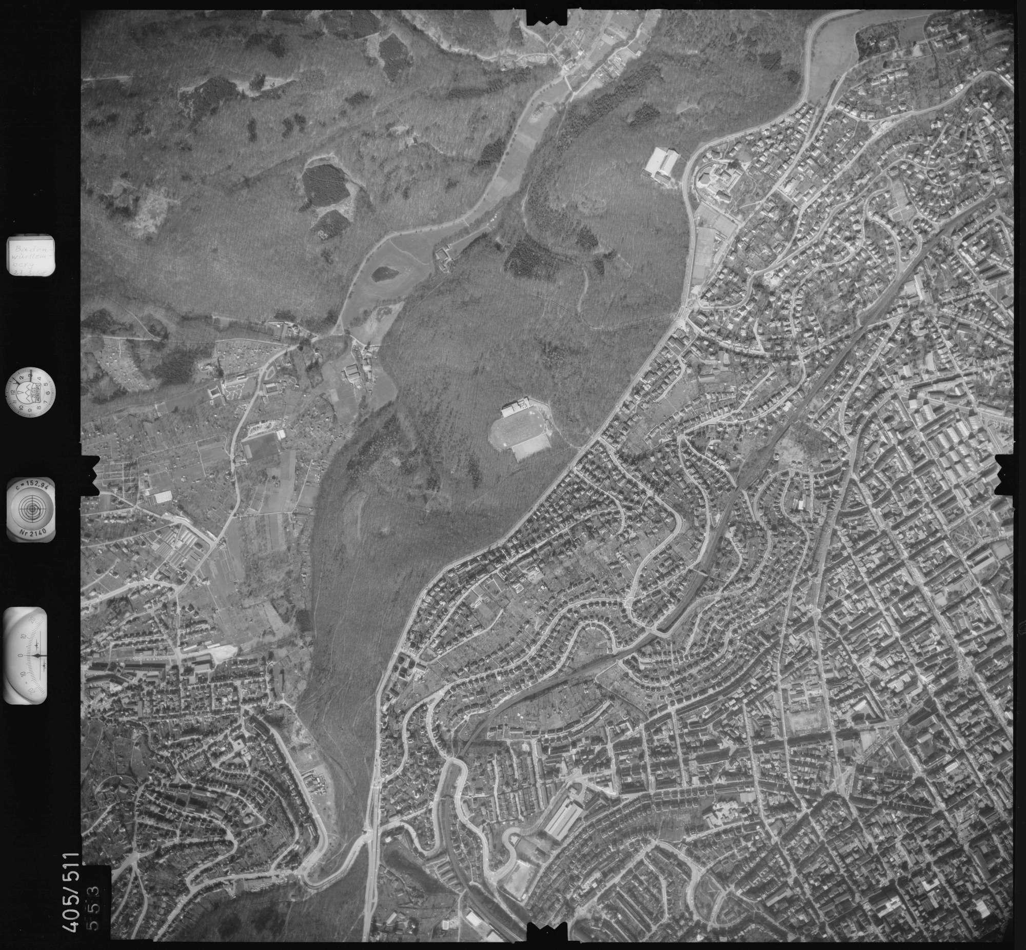 Luftbild: Film 10 Bildnr. 553, Bild 1