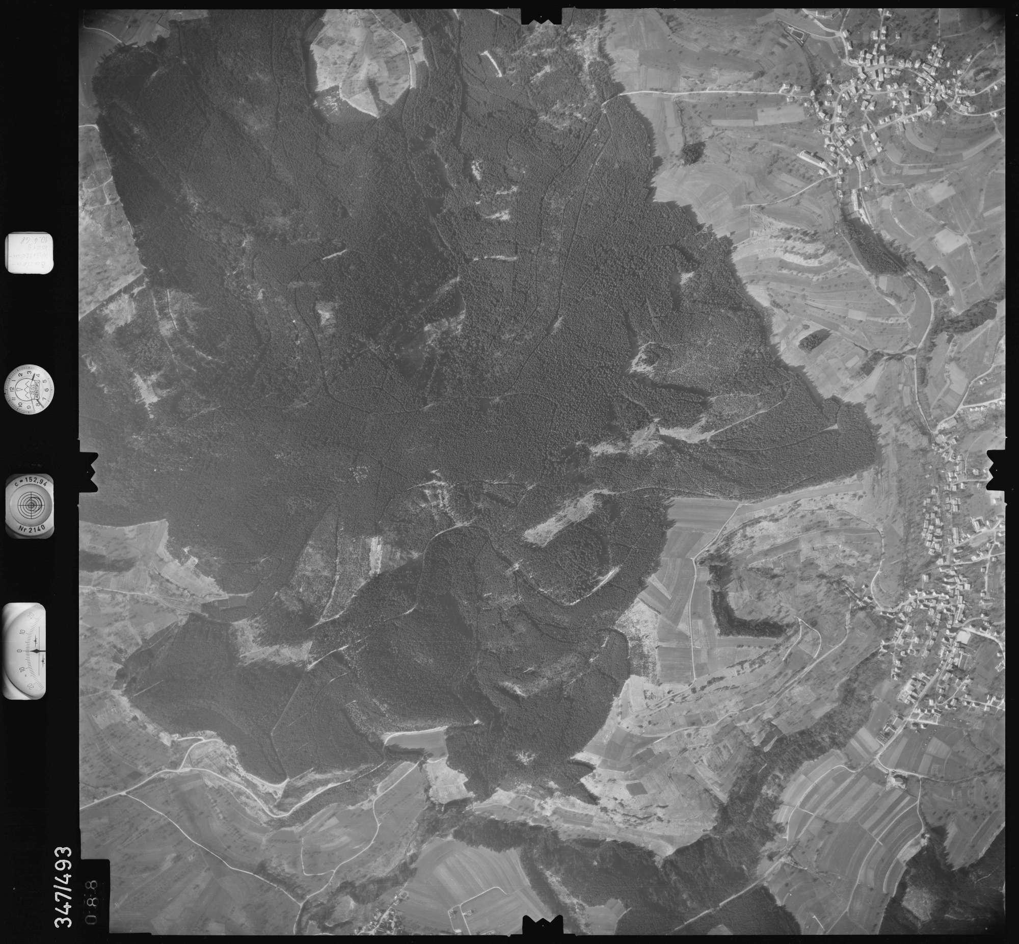 Luftbild: Film 43 Bildnr. 88, Bild 1