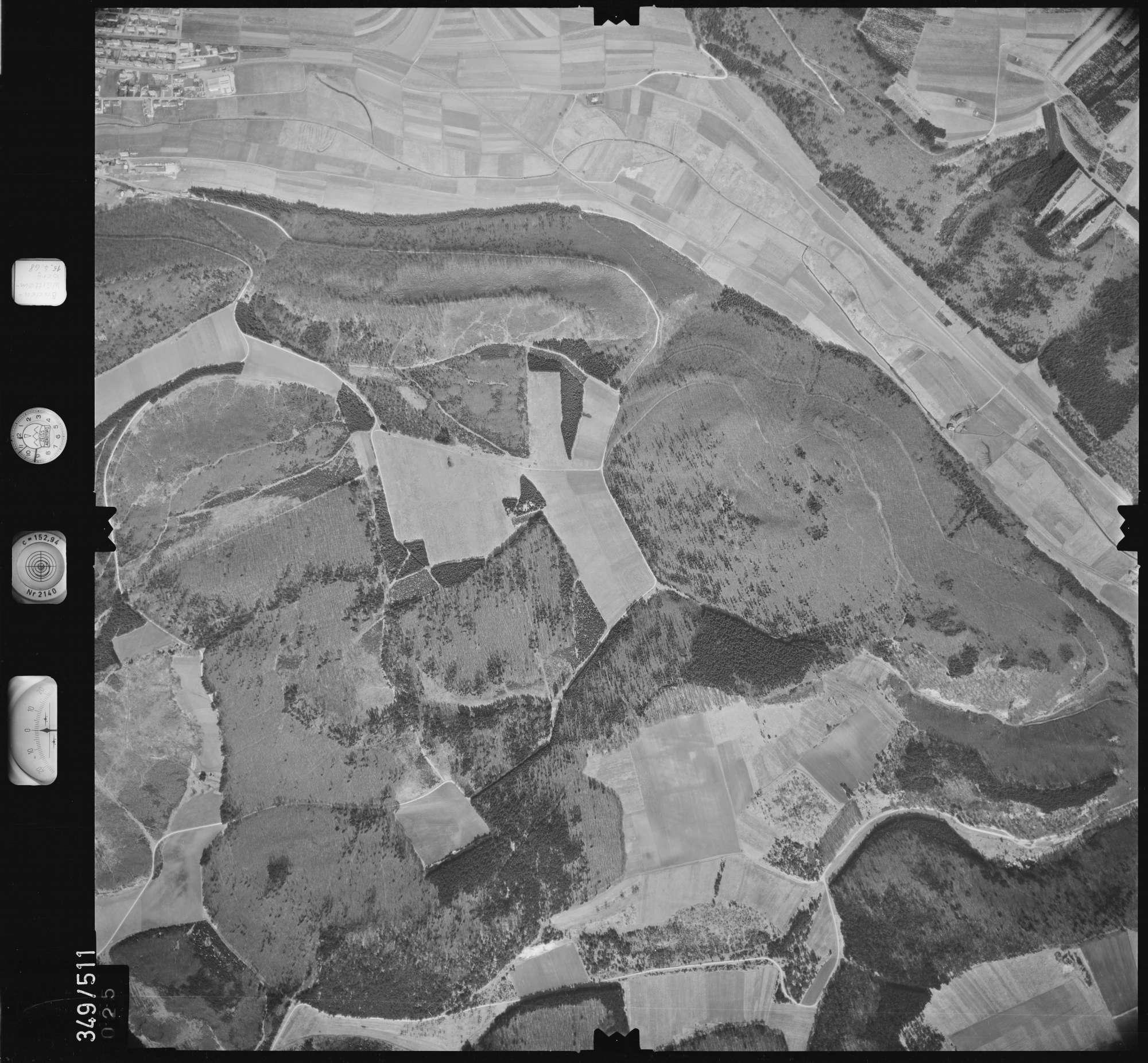 Luftbild: Film 45 Bildnr. 25, Bild 1