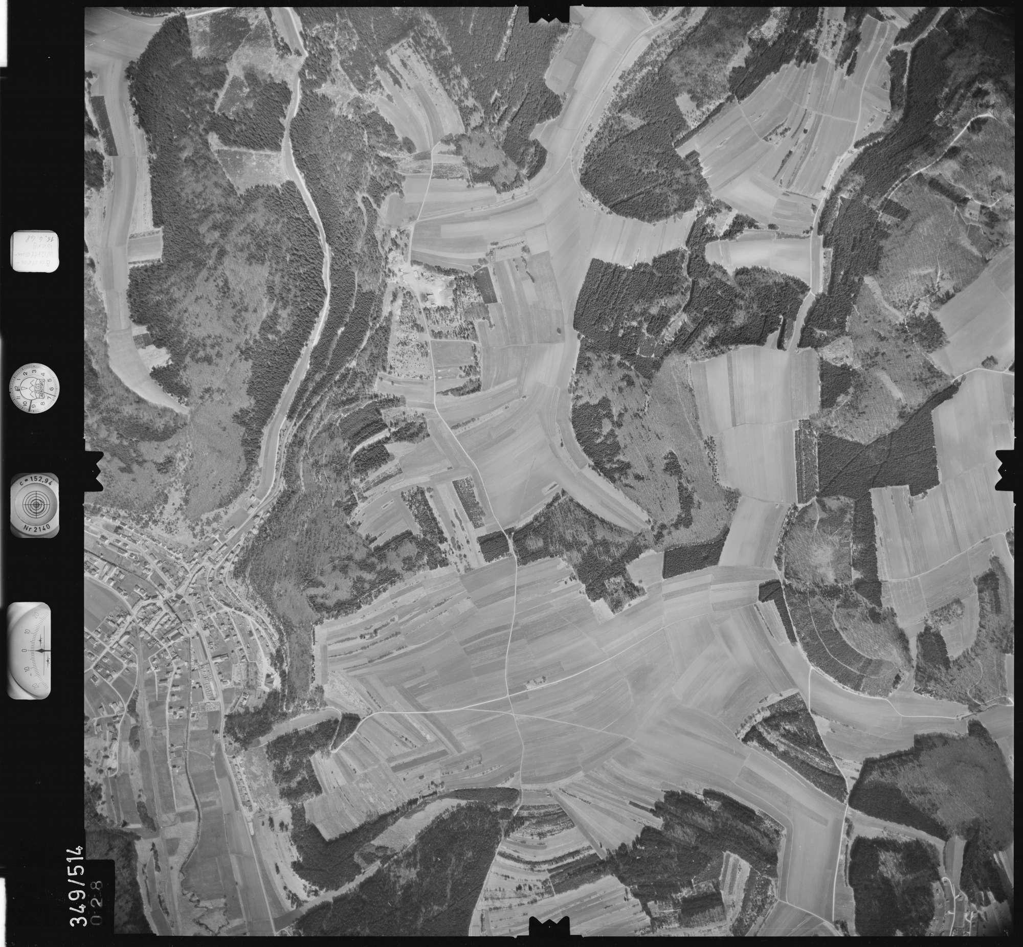 Luftbild: Film 45 Bildnr. 28, Bild 1