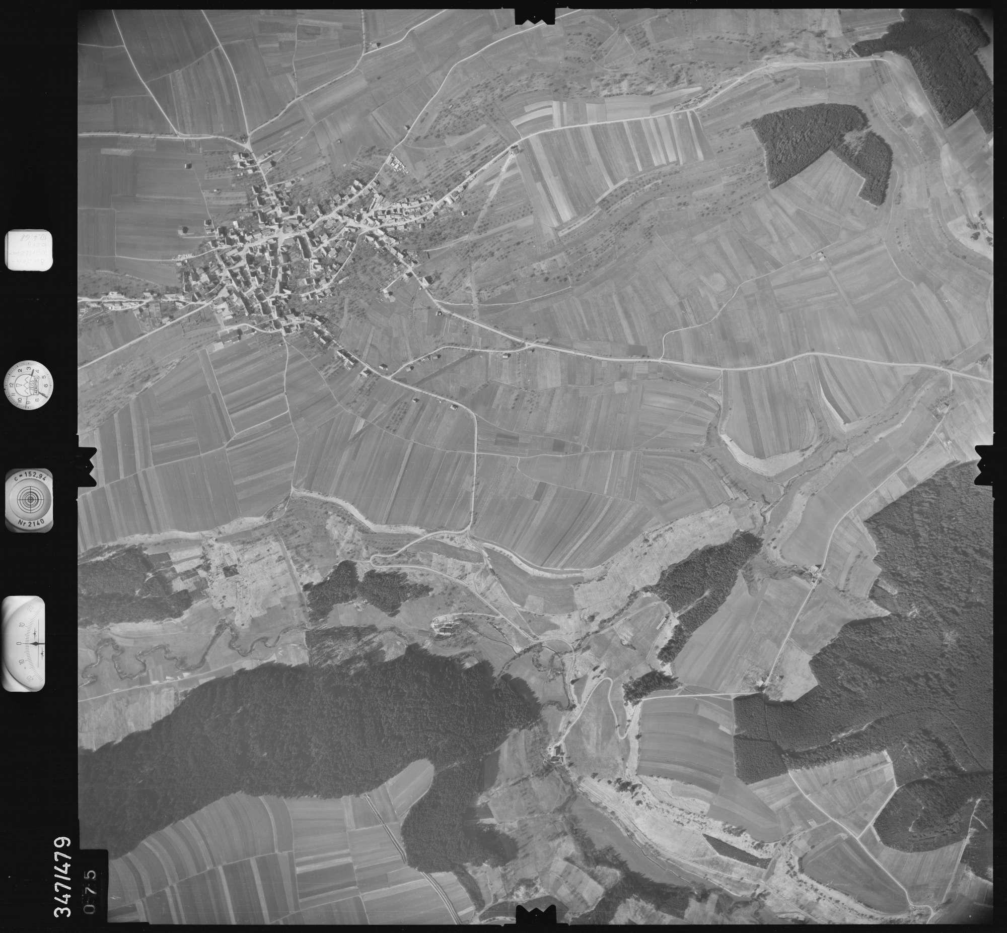 Luftbild: Film 43 Bildnr. 75, Bild 1