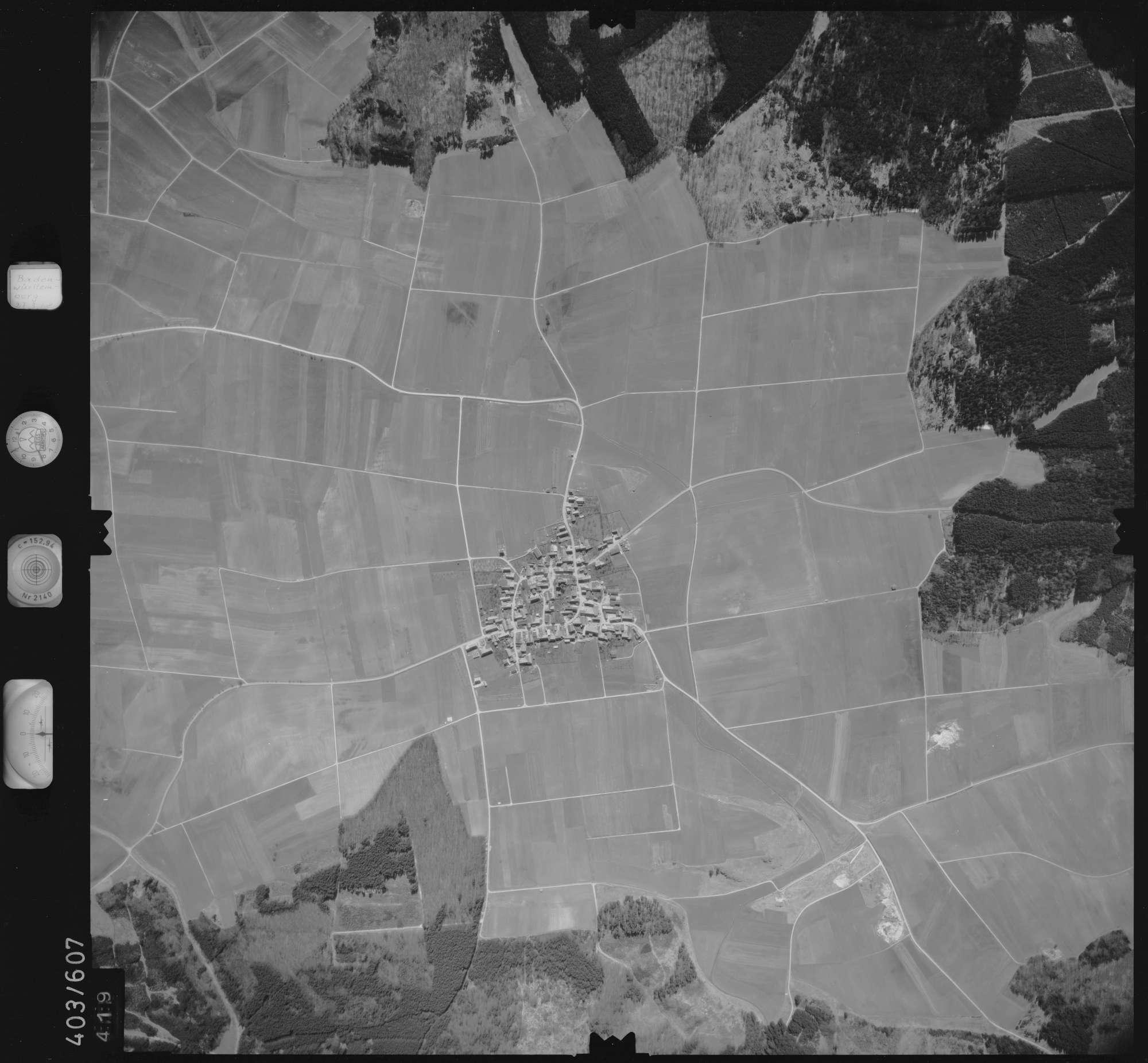 Luftbild: Film 10 Bildnr. 419, Bild 1