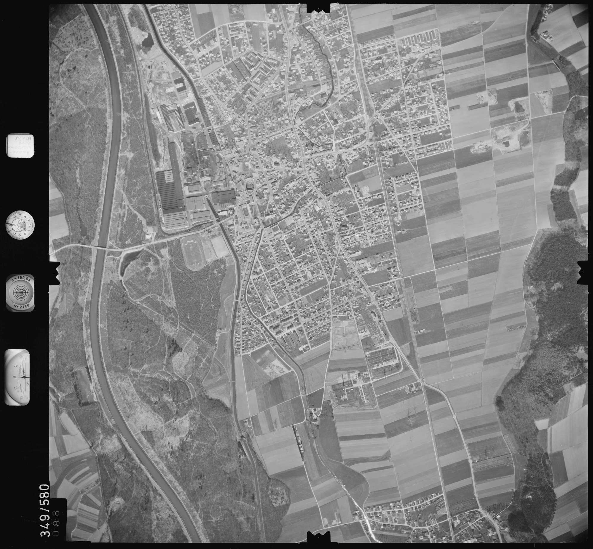 Luftbild: Film 45 Bildnr. 88, Bild 1