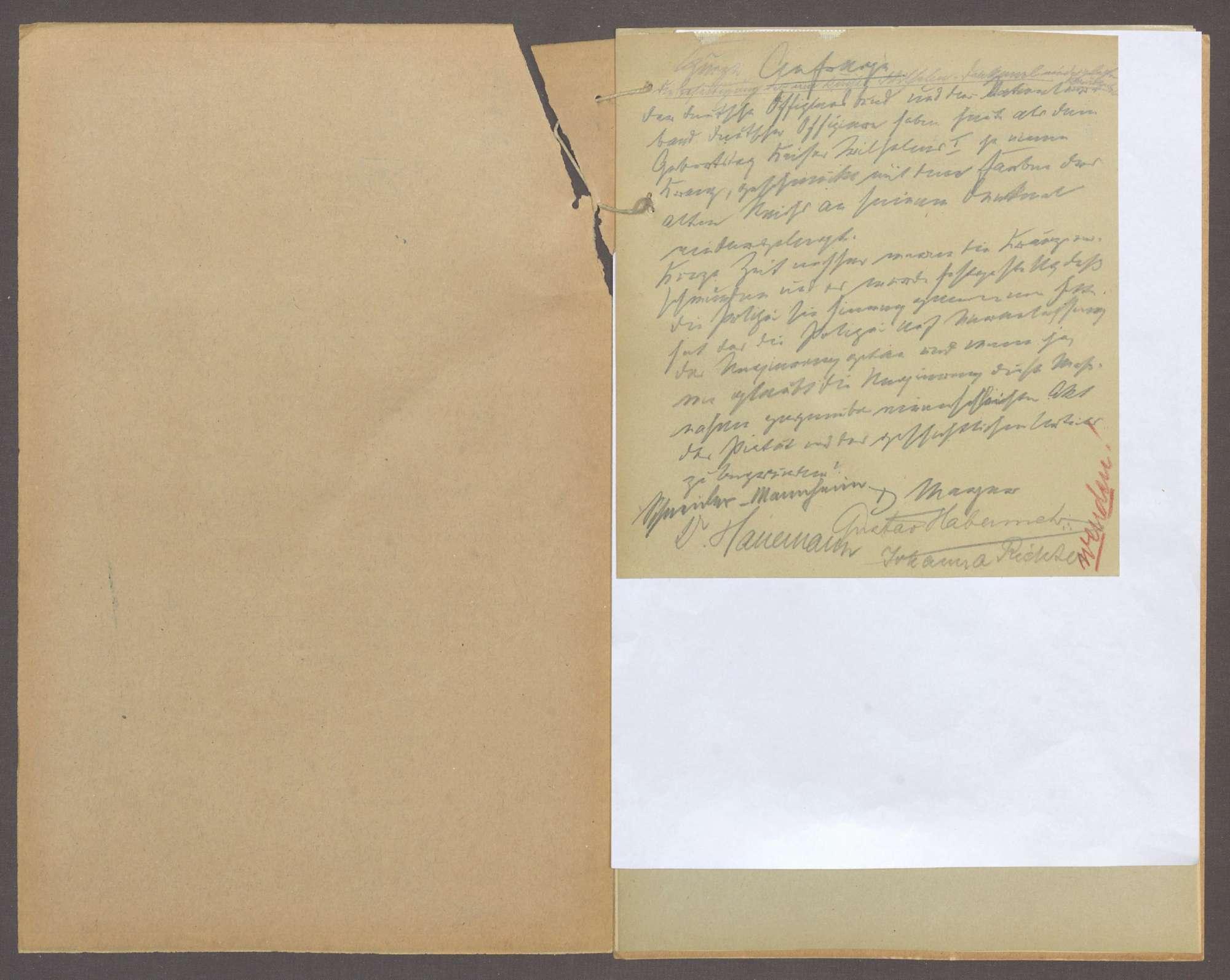 Kurze Anfrage der Abg. D. Mayer (Karlsruhe) u. Gen., die Beseitigung der am Kaiser-Wilhelm-Denkmal niedergelegten Kränze betr., Bild 2