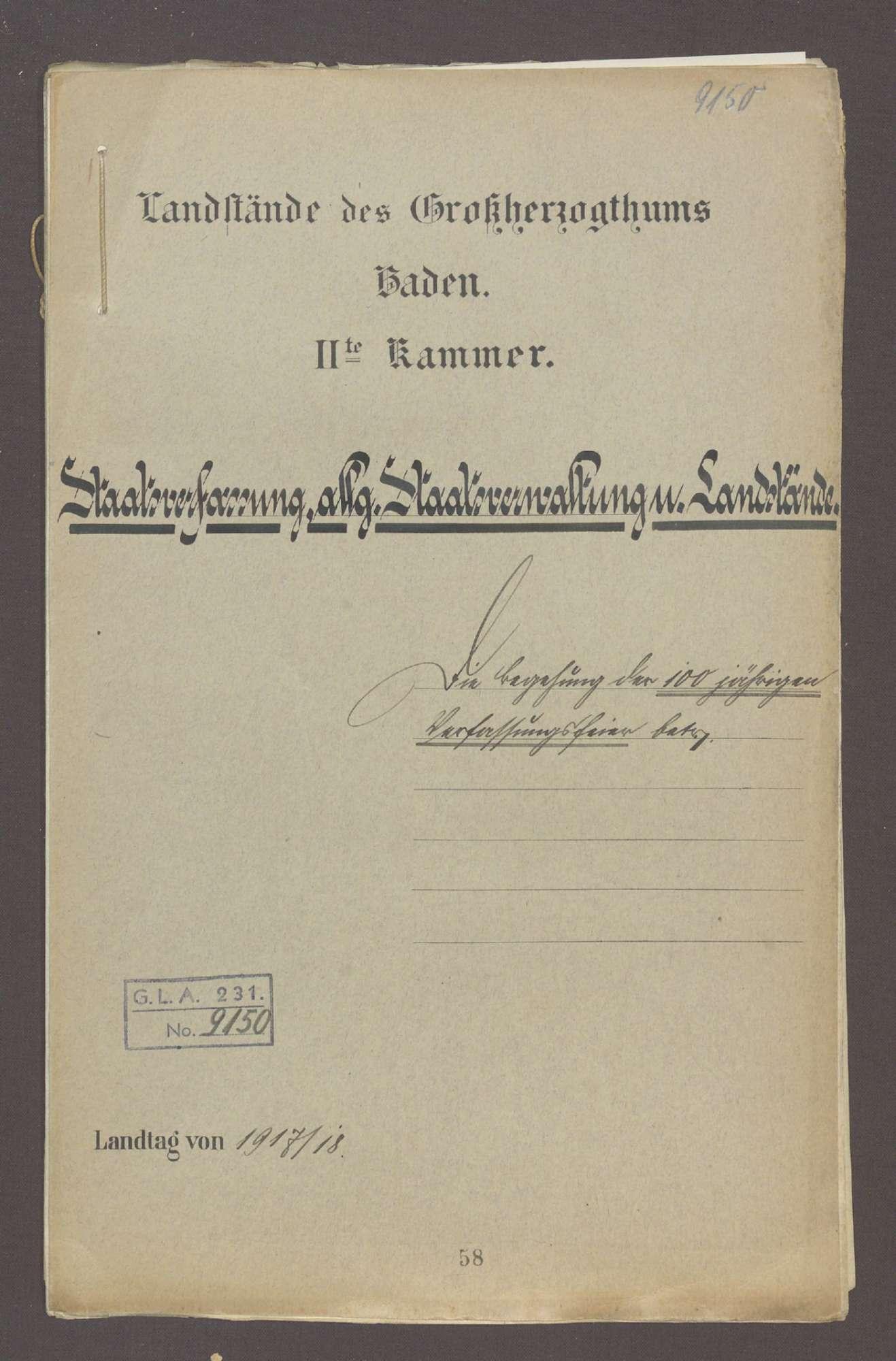 Die Begehung der 100jährigen Verfassungsfeier btr., Bild 1