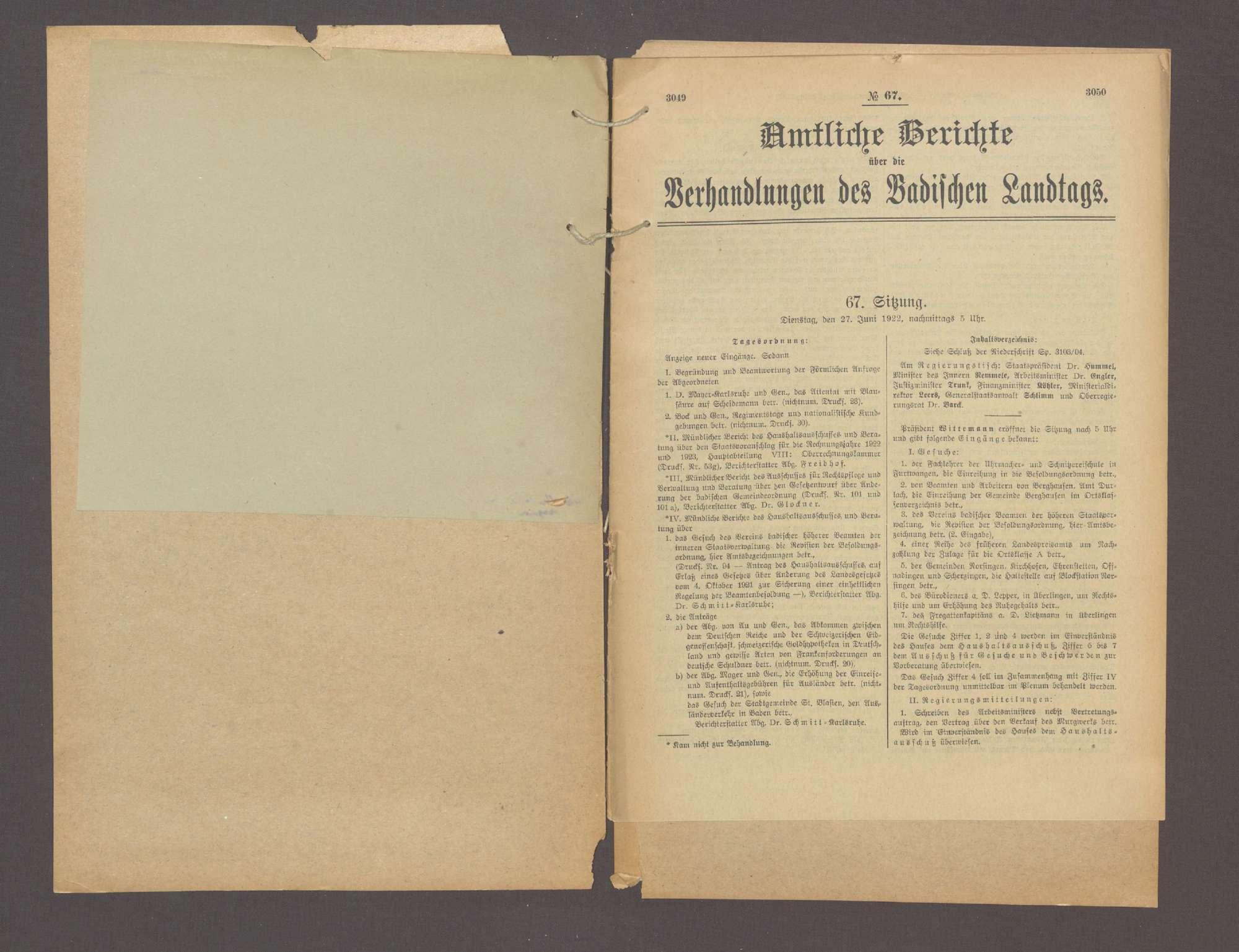 Antrag der Abg. Marum, Dr. Glockner und Dr. Schofer, den Schutz der Republik, der Verfassung und Aufrechterhaltung der staatl. Ordnung betr., Bild 3