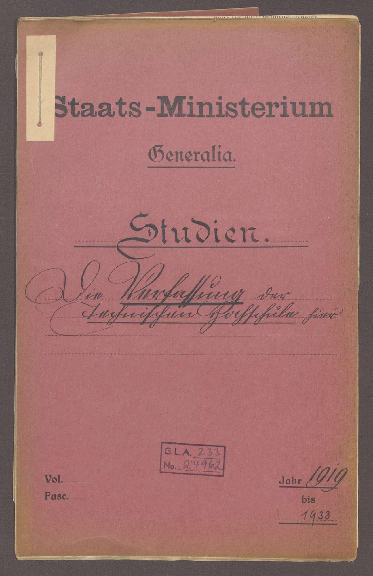 Die Verfassung der Technischen Hochschule Karlsruhe, Bild 1