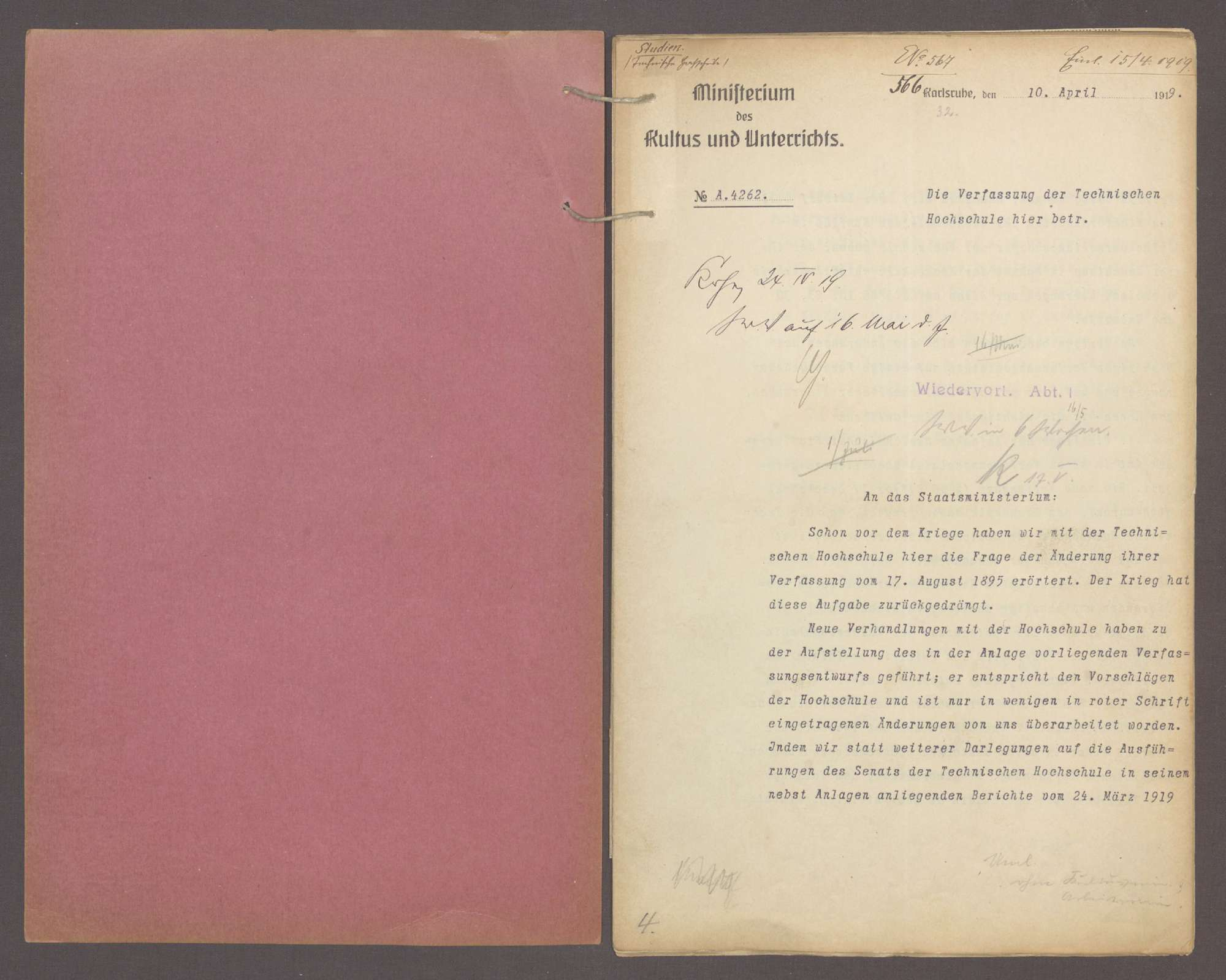 Die Verfassung der Technischen Hochschule Karlsruhe, Bild 2