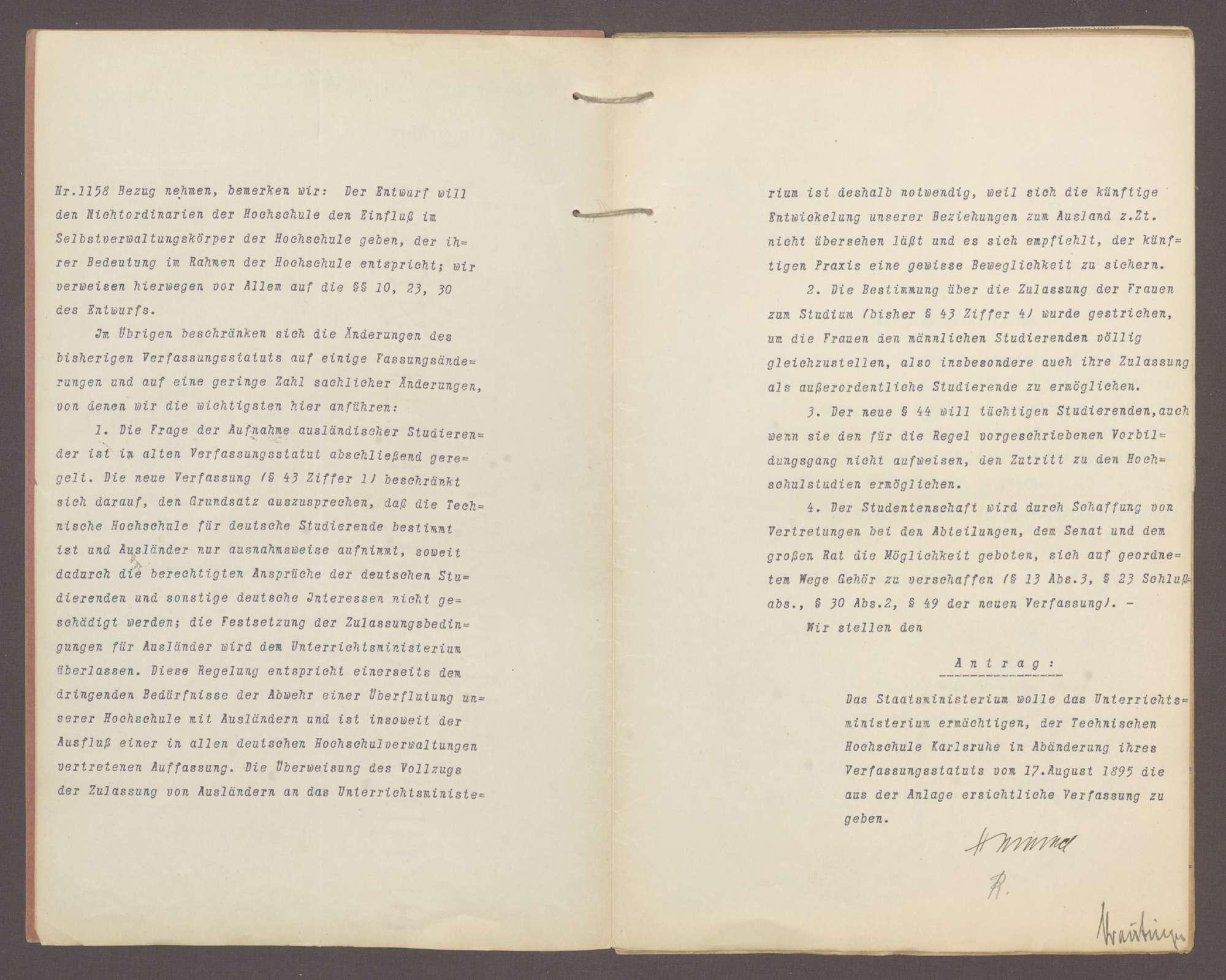 Die Verfassung der Technischen Hochschule Karlsruhe, Bild 3