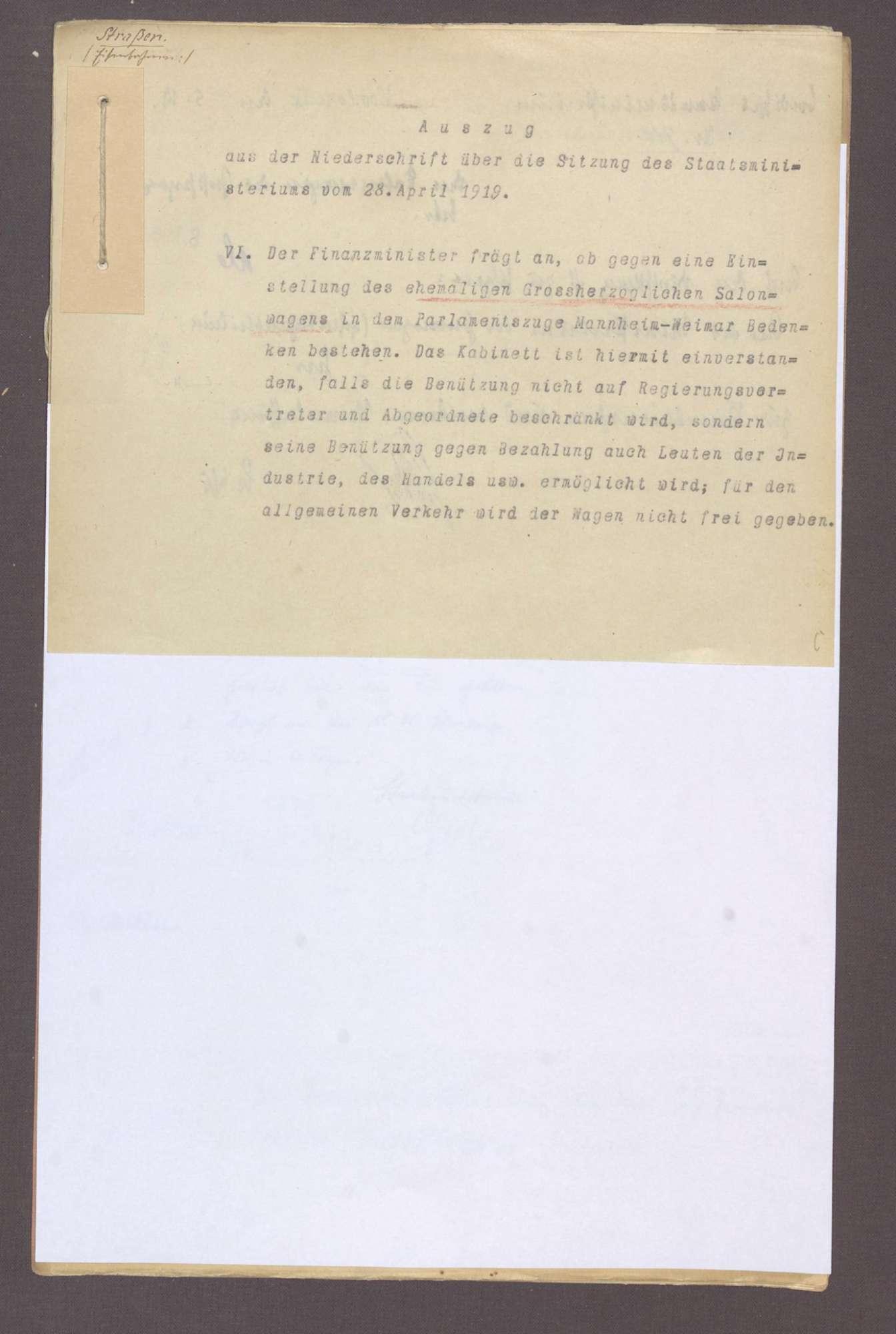 Die Salonwagen des Großherzogs, Bild 1