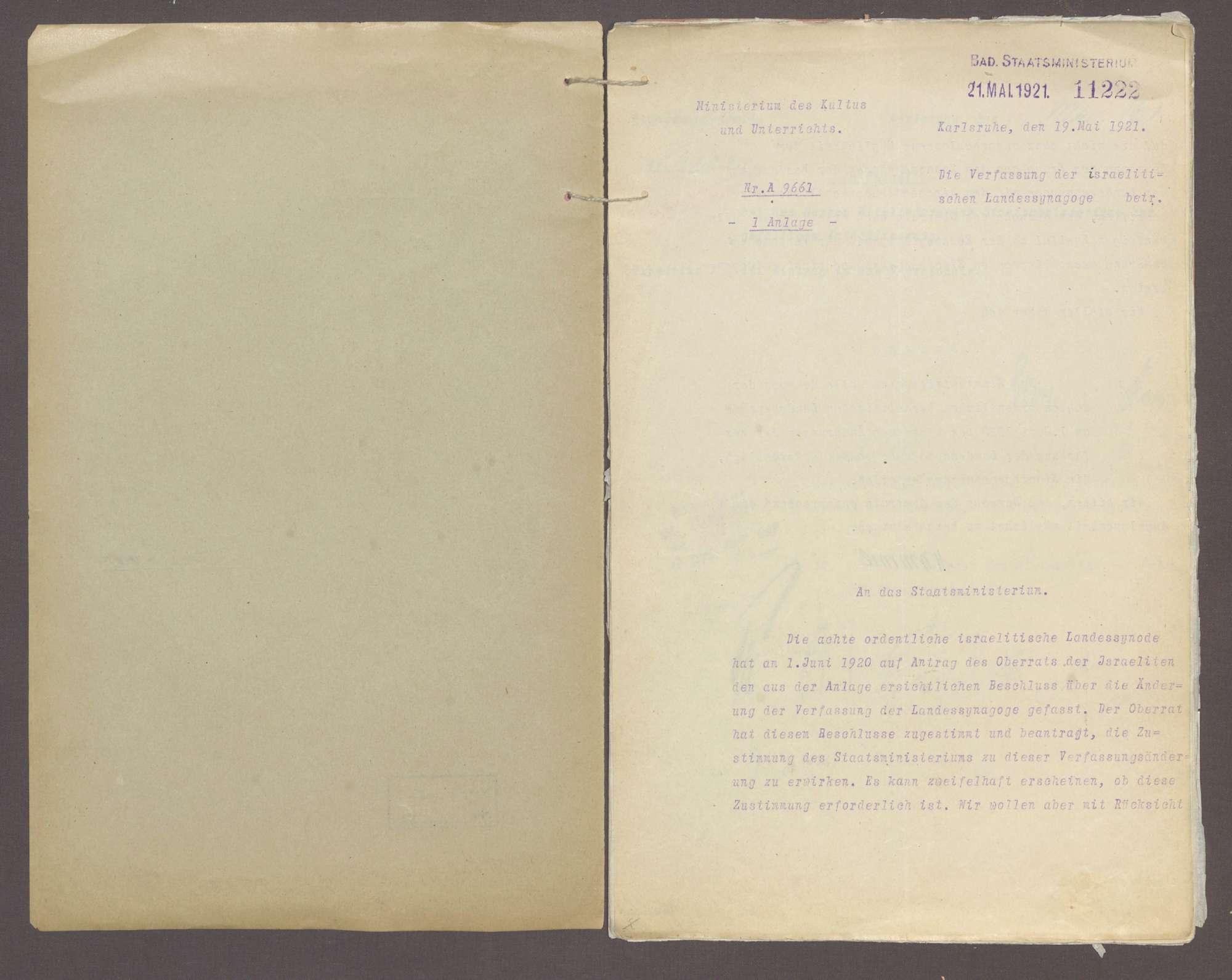 Verfassung der israelitischen Landessynagoge, Bild 2