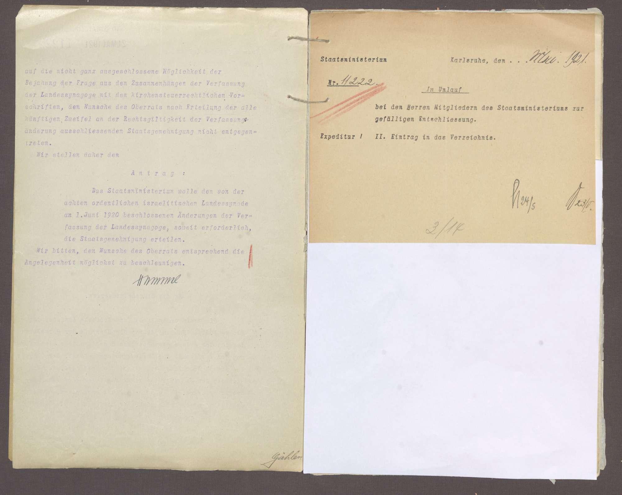 Verfassung der israelitischen Landessynagoge, Bild 3