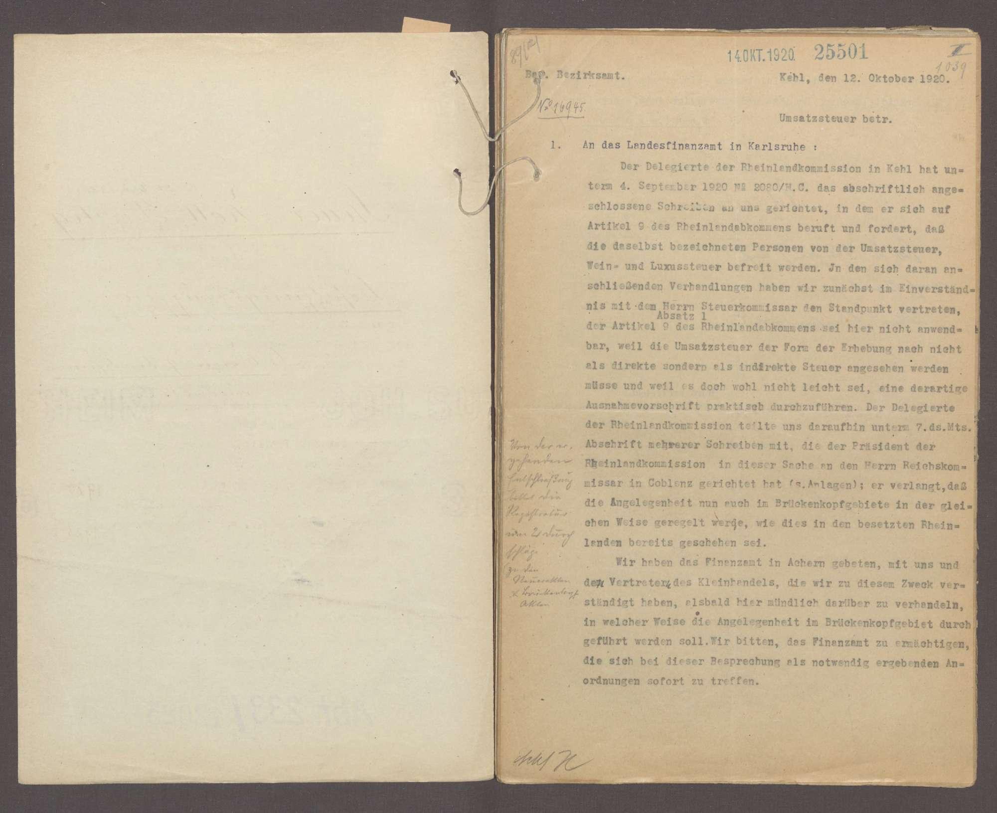 Steuer- und Zollprivileg der Besatzungstruppen (Artikel 9 des Rheinlandabkommens), Bild 2