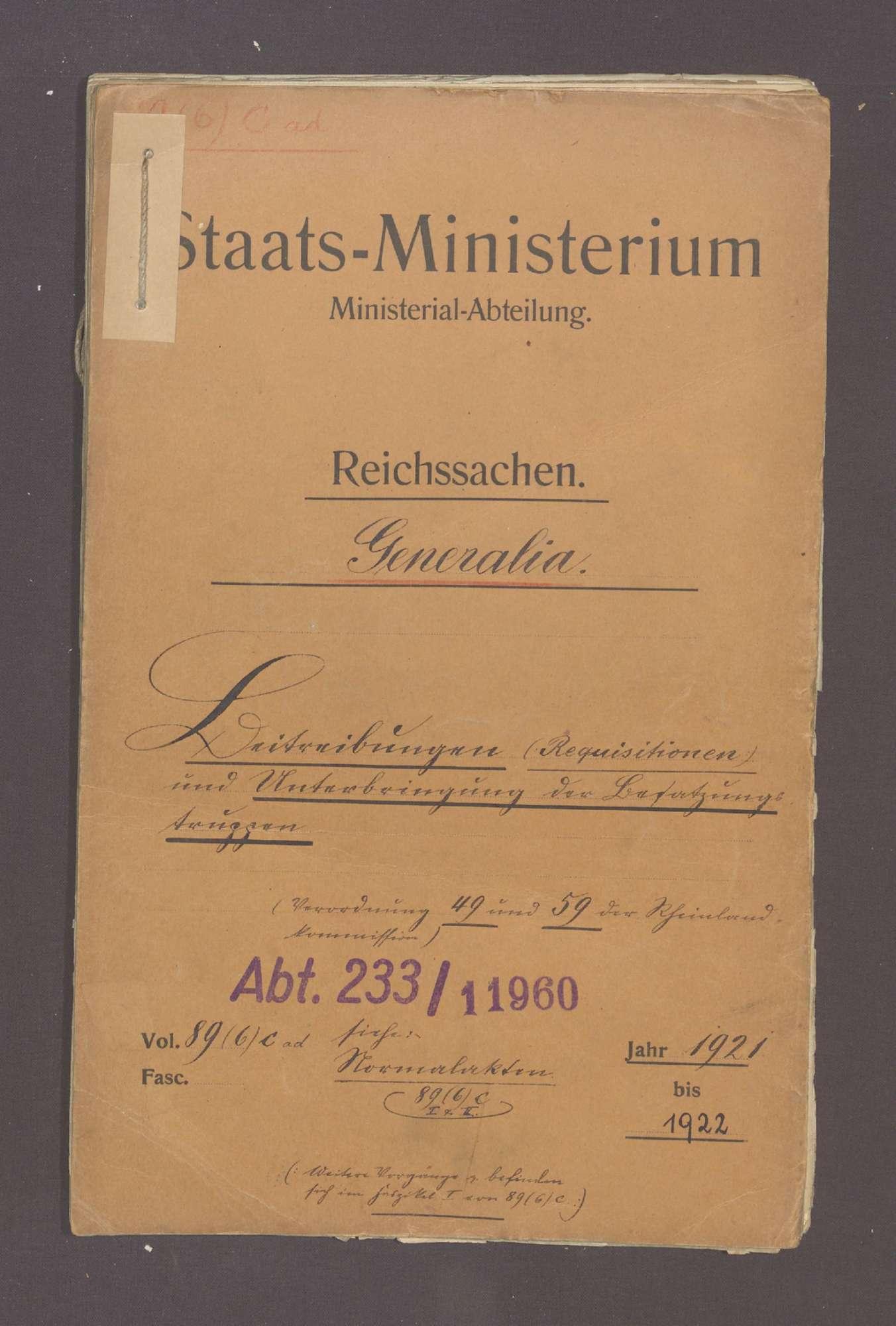 Beitreibungen und Unterbringung der Besatzungstruppen, Bild 1