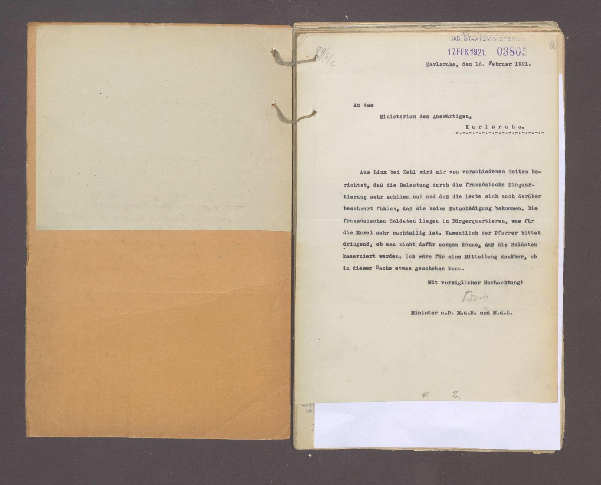 Beitreibungen und Unterbringung der Besatzungstruppen, Bild 3