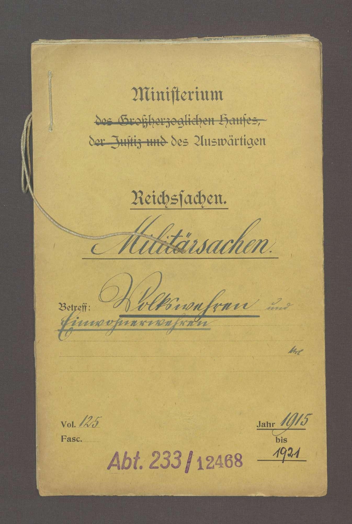 Volkswehren und Einwohnerwehren, Bild 1