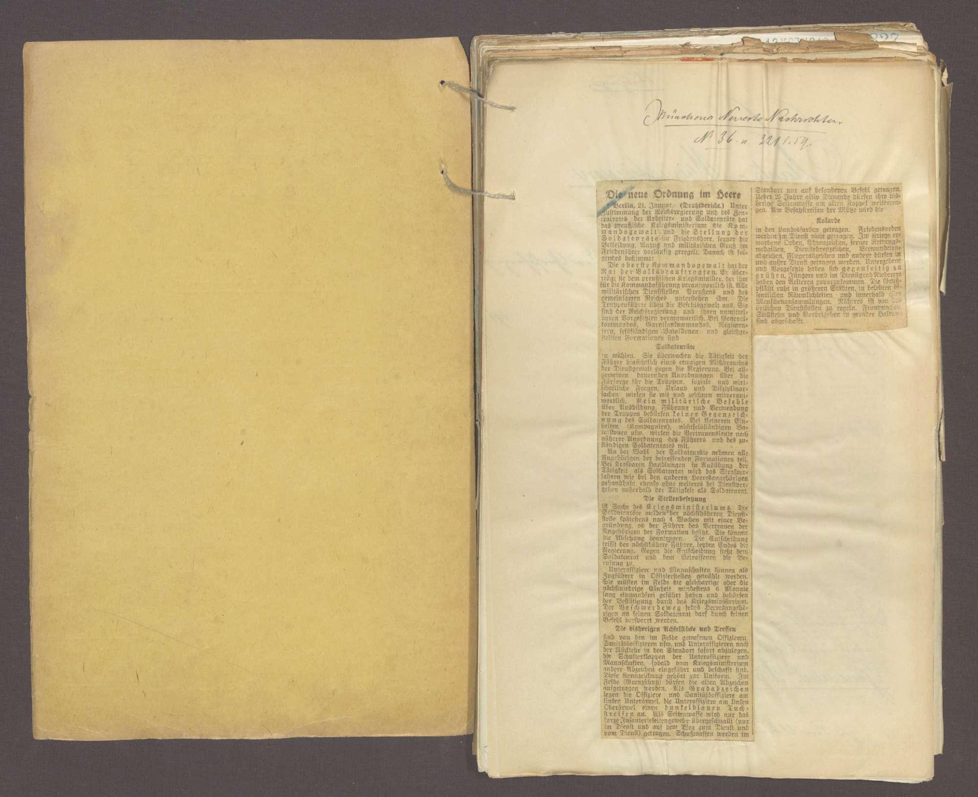 Das Reichswehrgesetz und die Neuordnung des Heeres (I), Bild 2