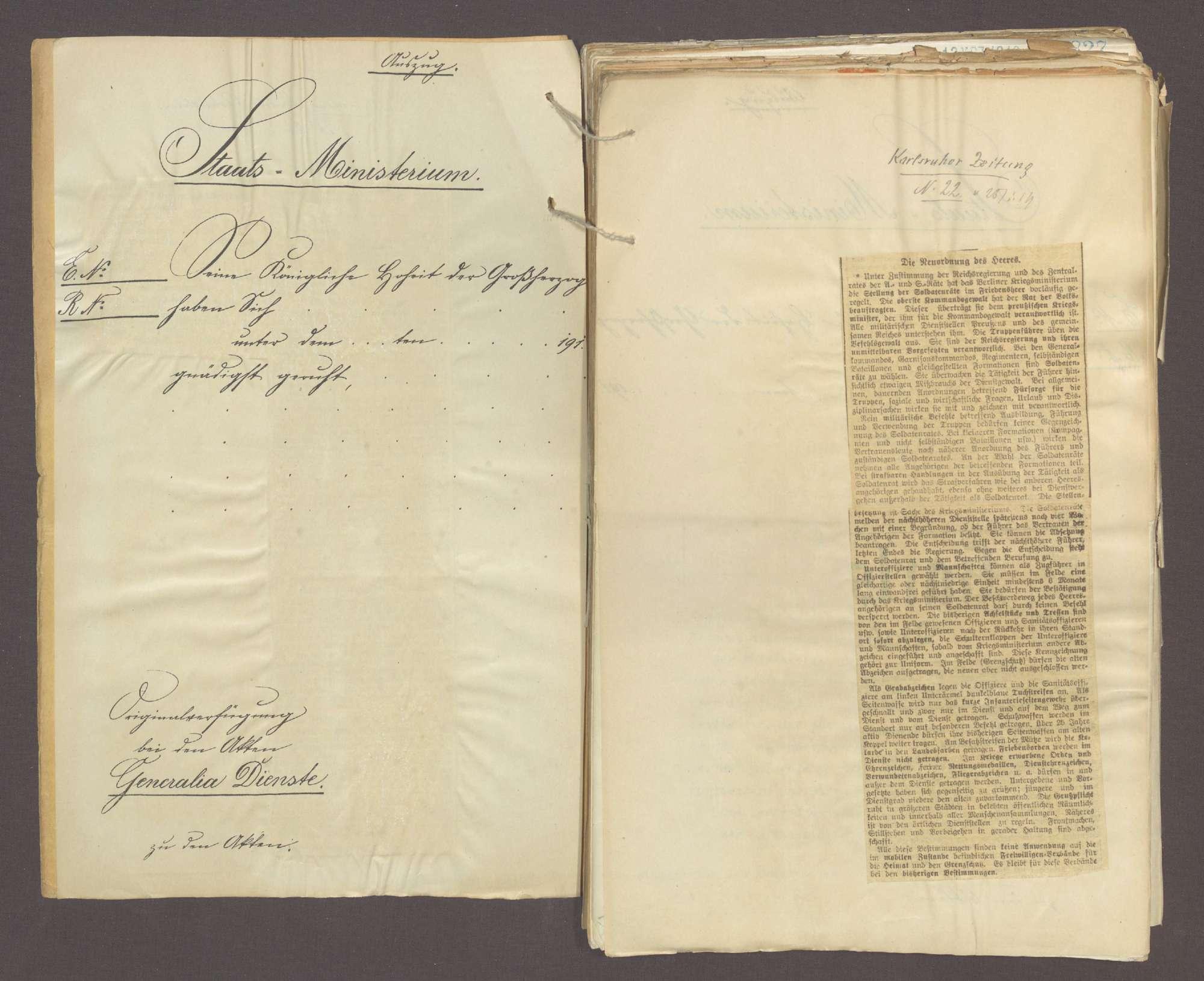 Das Reichswehrgesetz und die Neuordnung des Heeres (I), Bild 3
