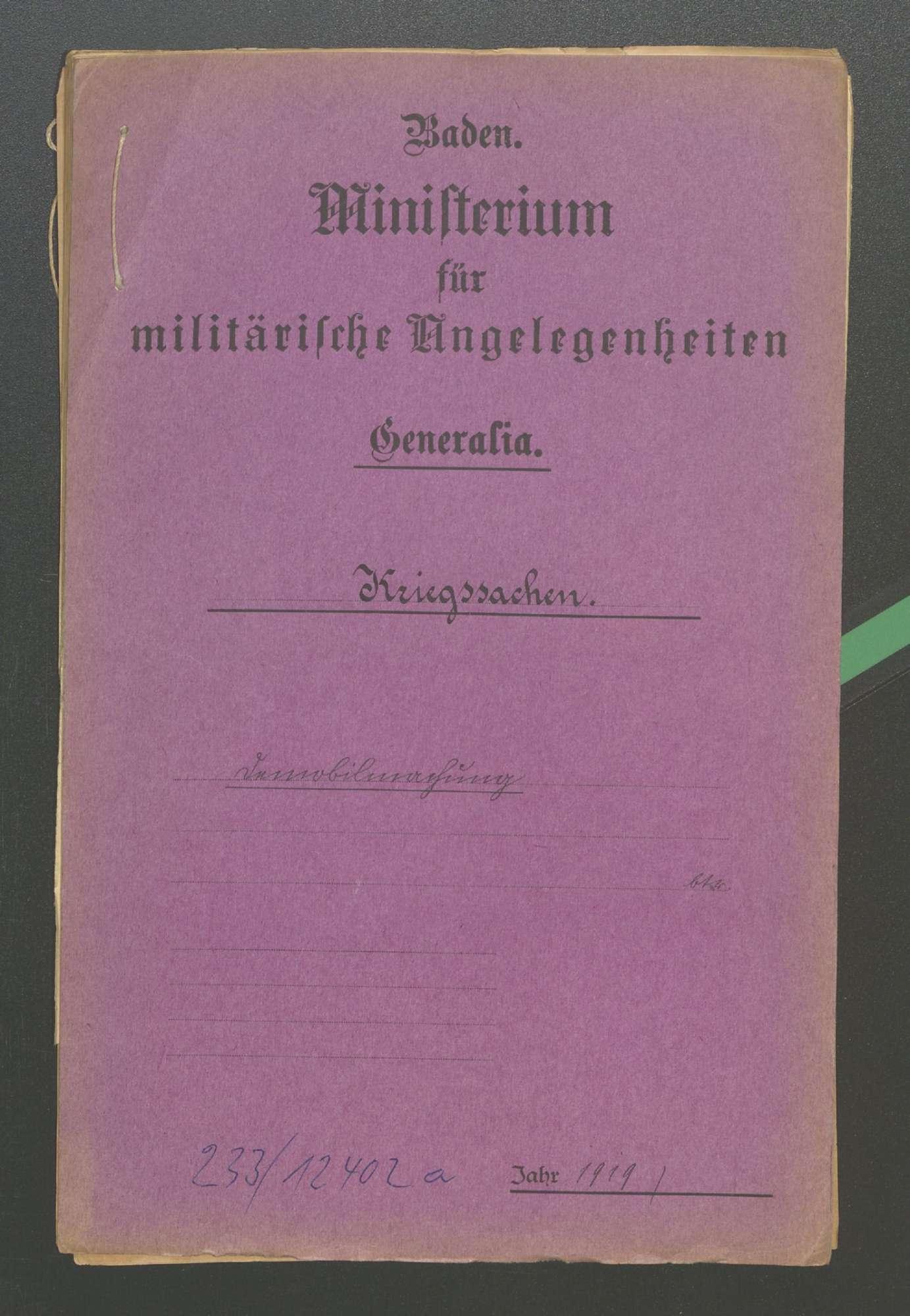 Die Demobilmachung (II), Bild 1