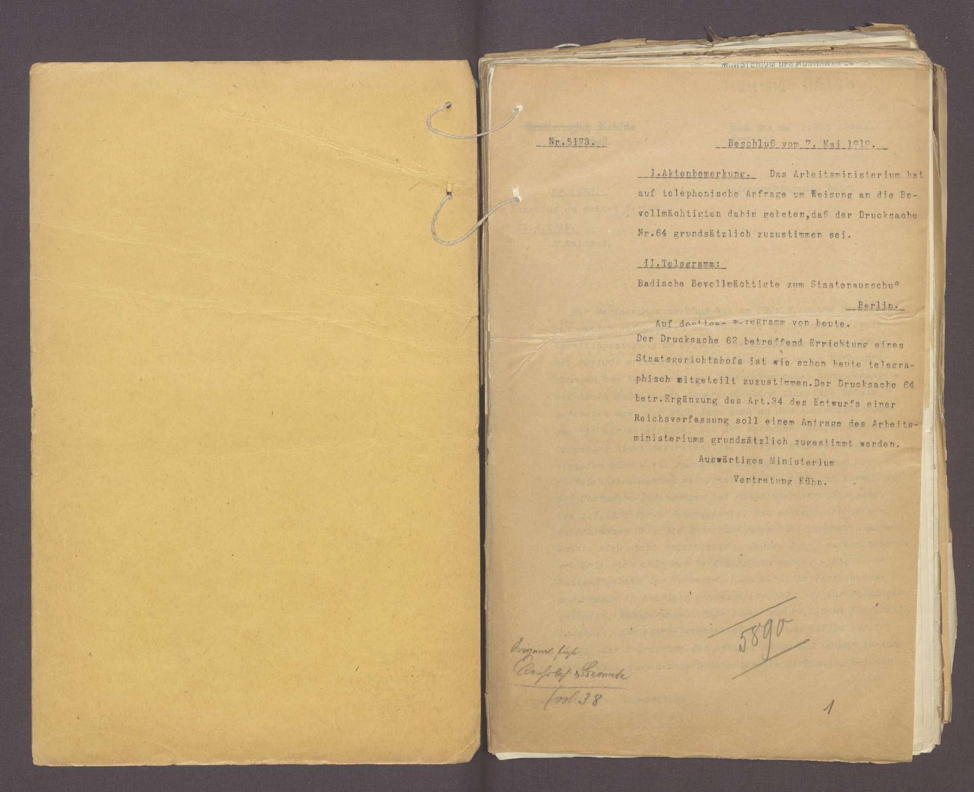 Die Reichsverfassung und die bayerischen und badischen Denkschriften zur Reform der Verfassung (III), Bild 2