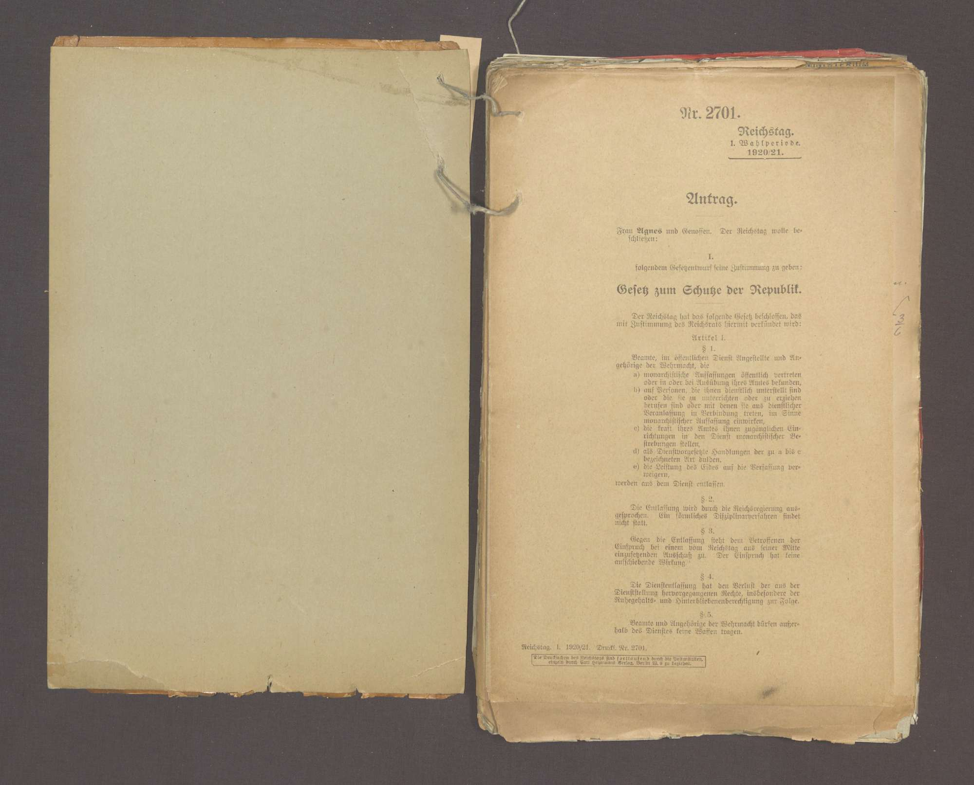 Der Schutz der Republik (I), Bild 2