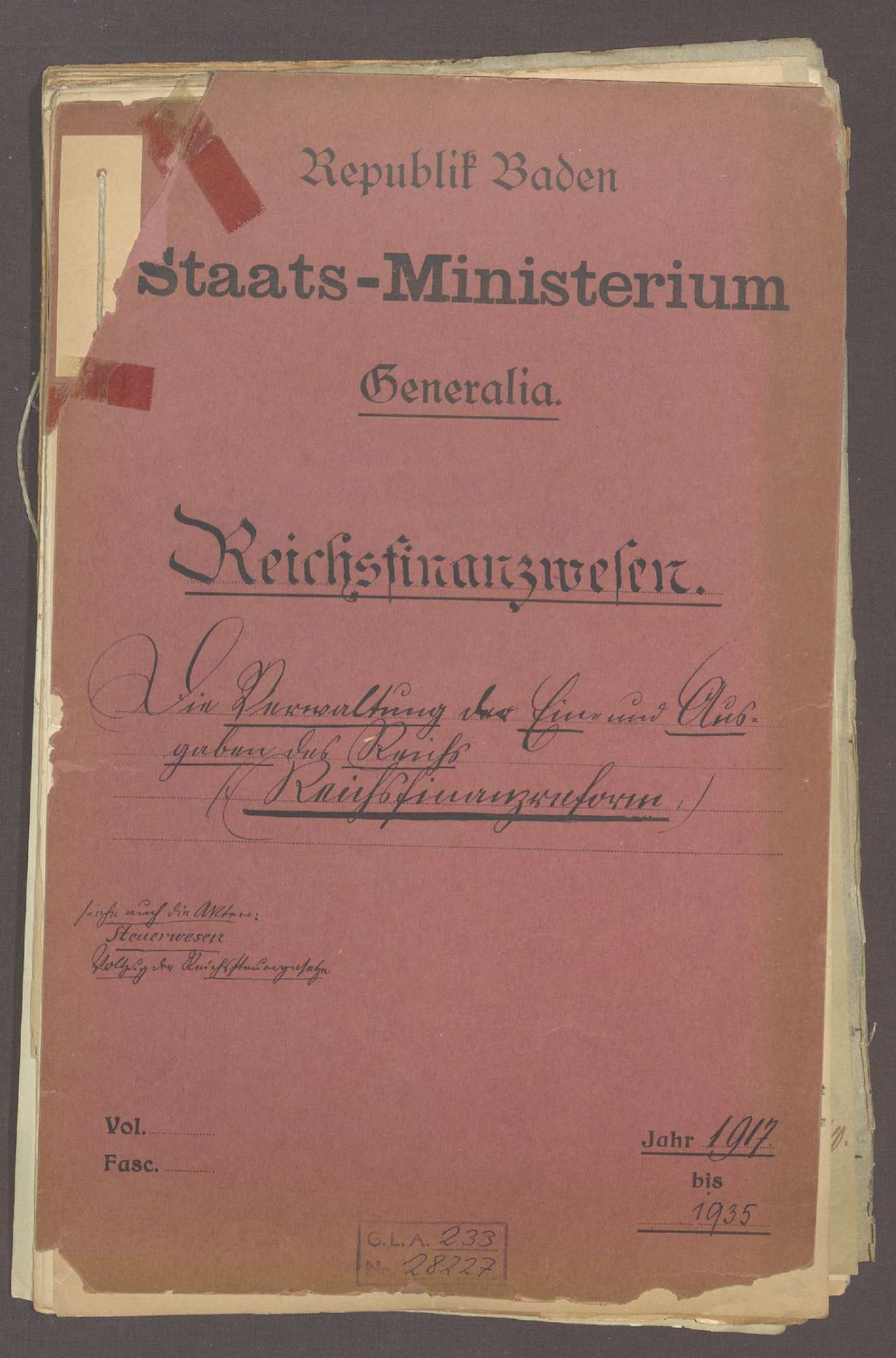 Reichsfinanzreform, Bild 1
