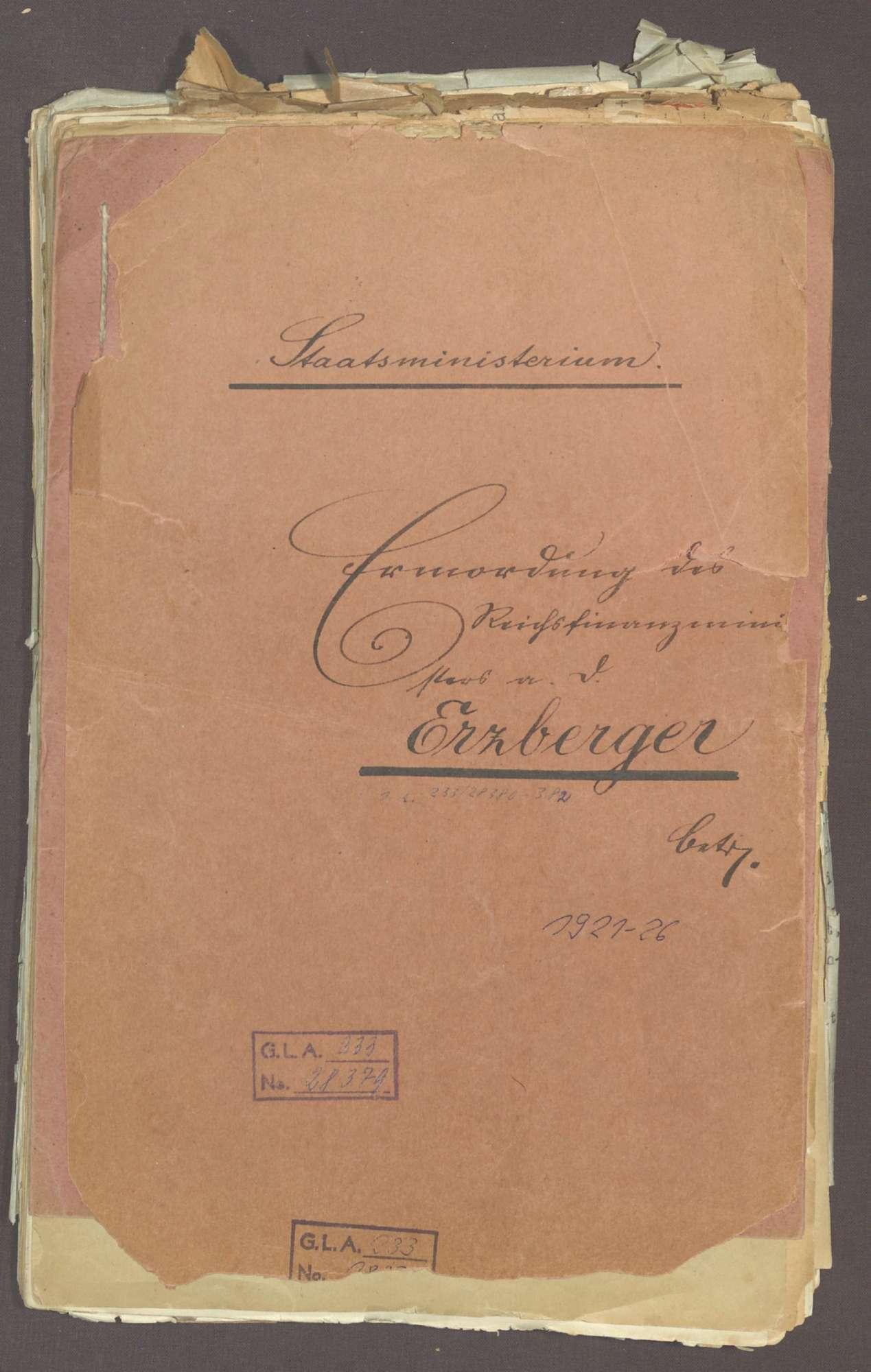 Ermordung des Reichsfinanzministers a. D. Erzberger, Bild 1