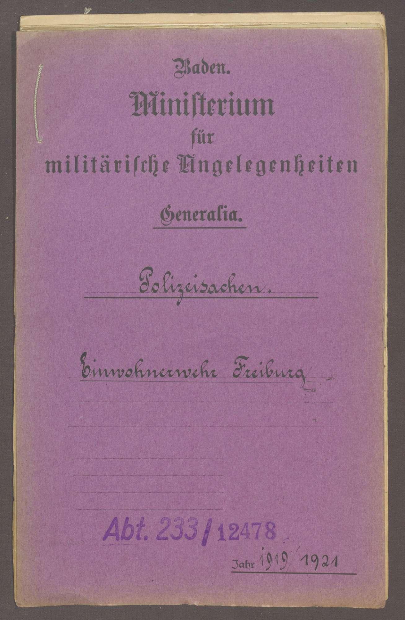 Die Einwohnerwehr in Freiburg, Bild 1