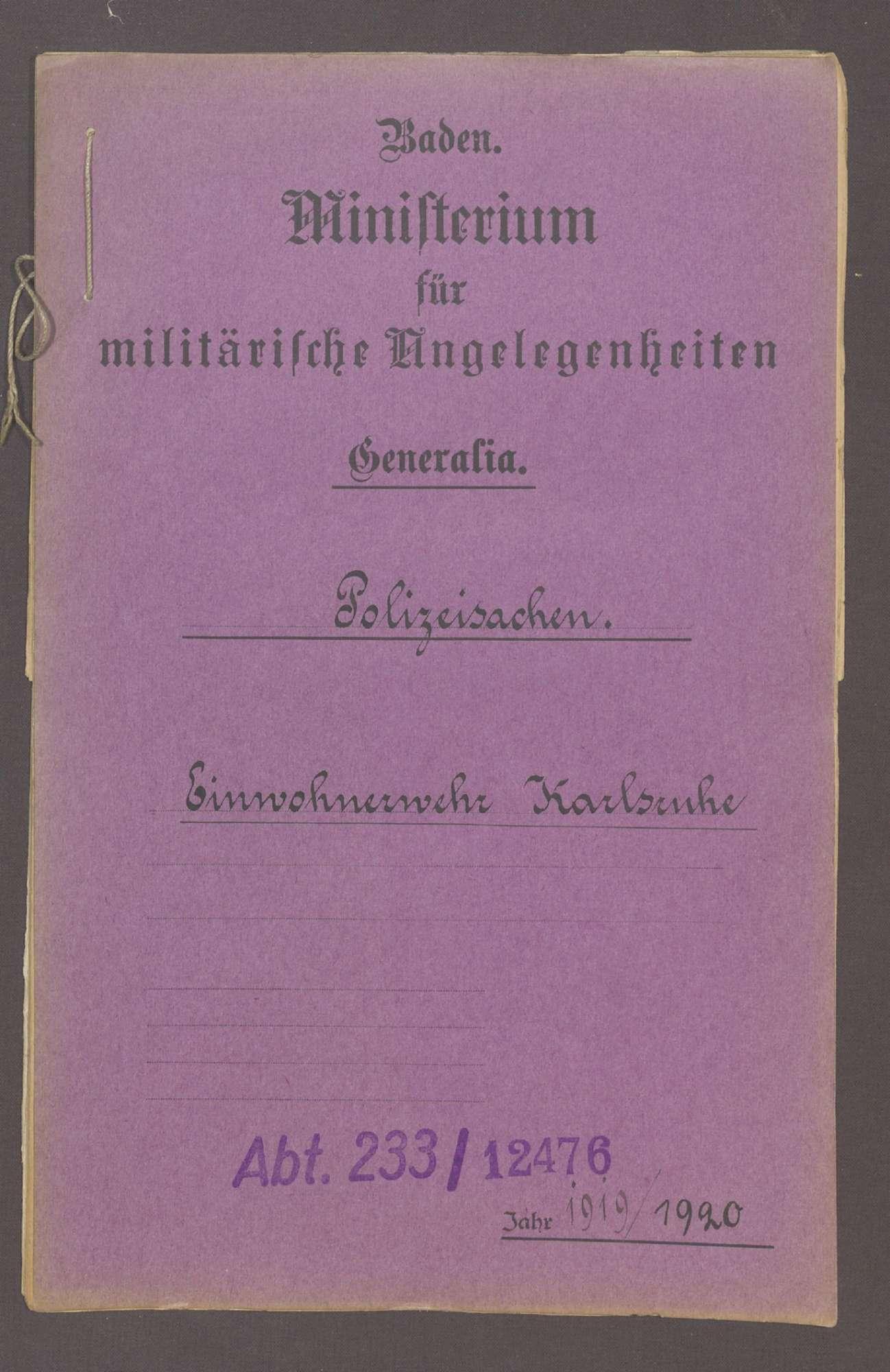 Die Einwohnerwehr Karlsruhe, Bild 1