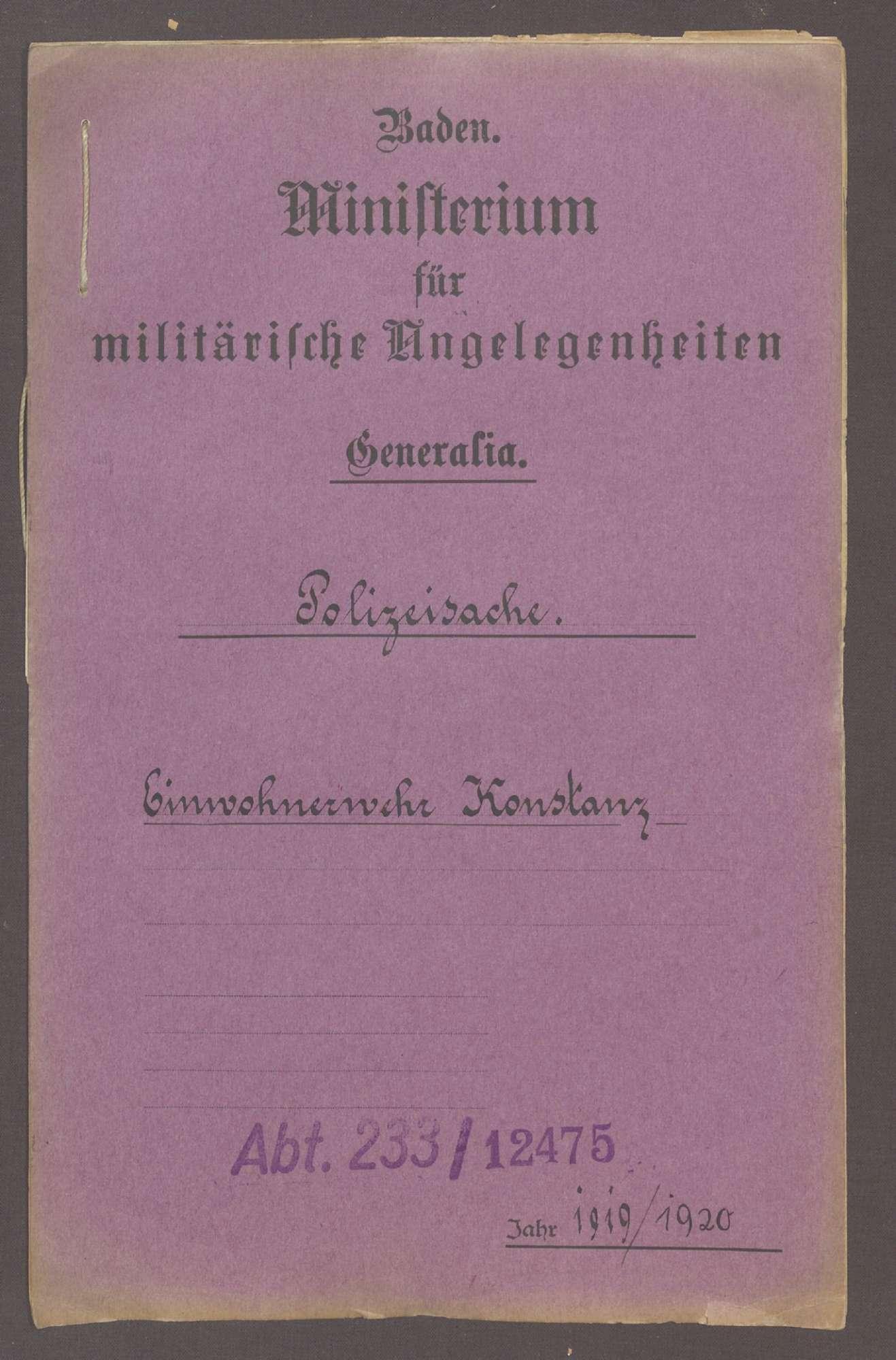 Die Konstanzer Einwohnerwehr, Bild 1