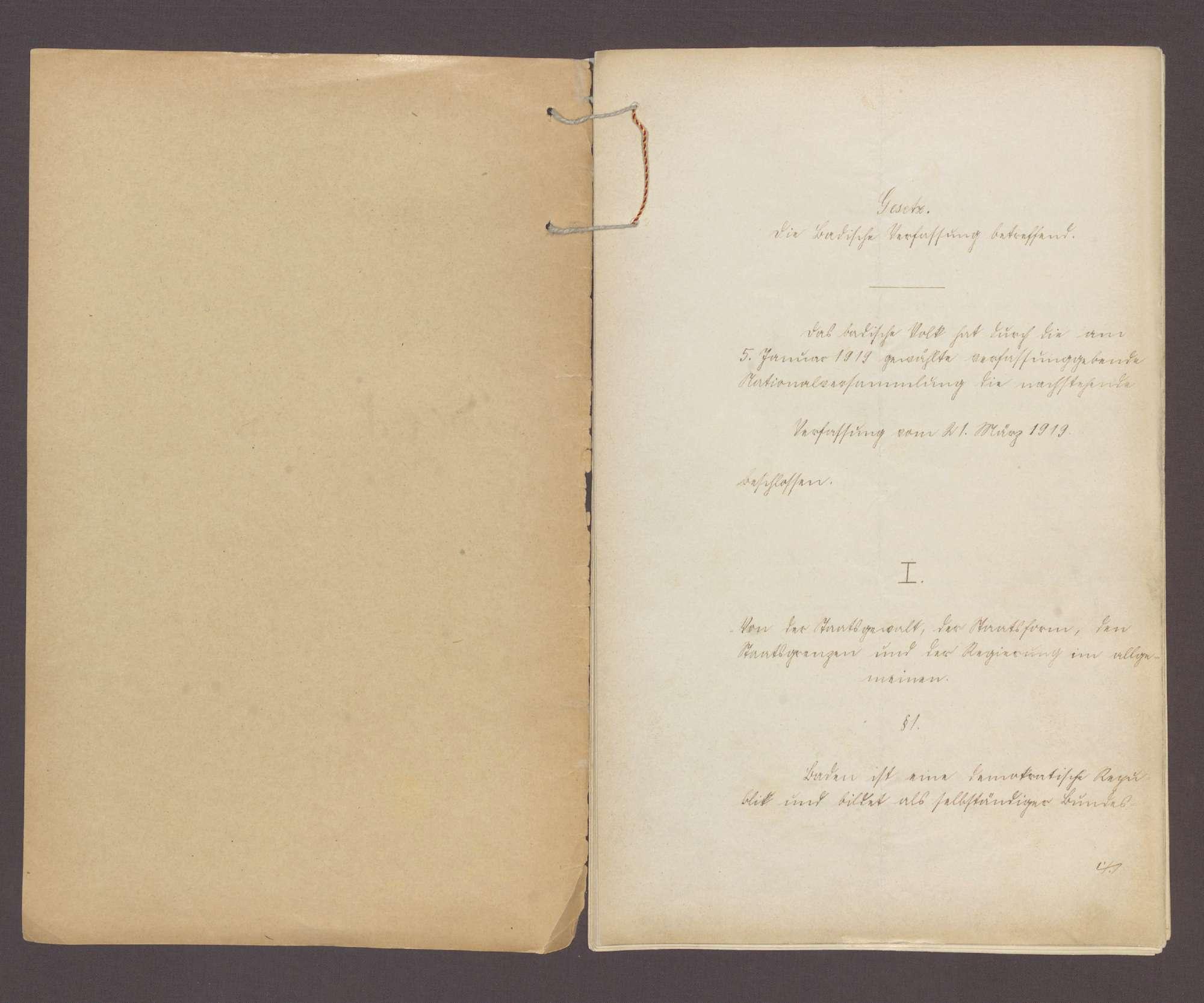 Gesetz über die badische Verfassung (21. März 1919), Bild 2