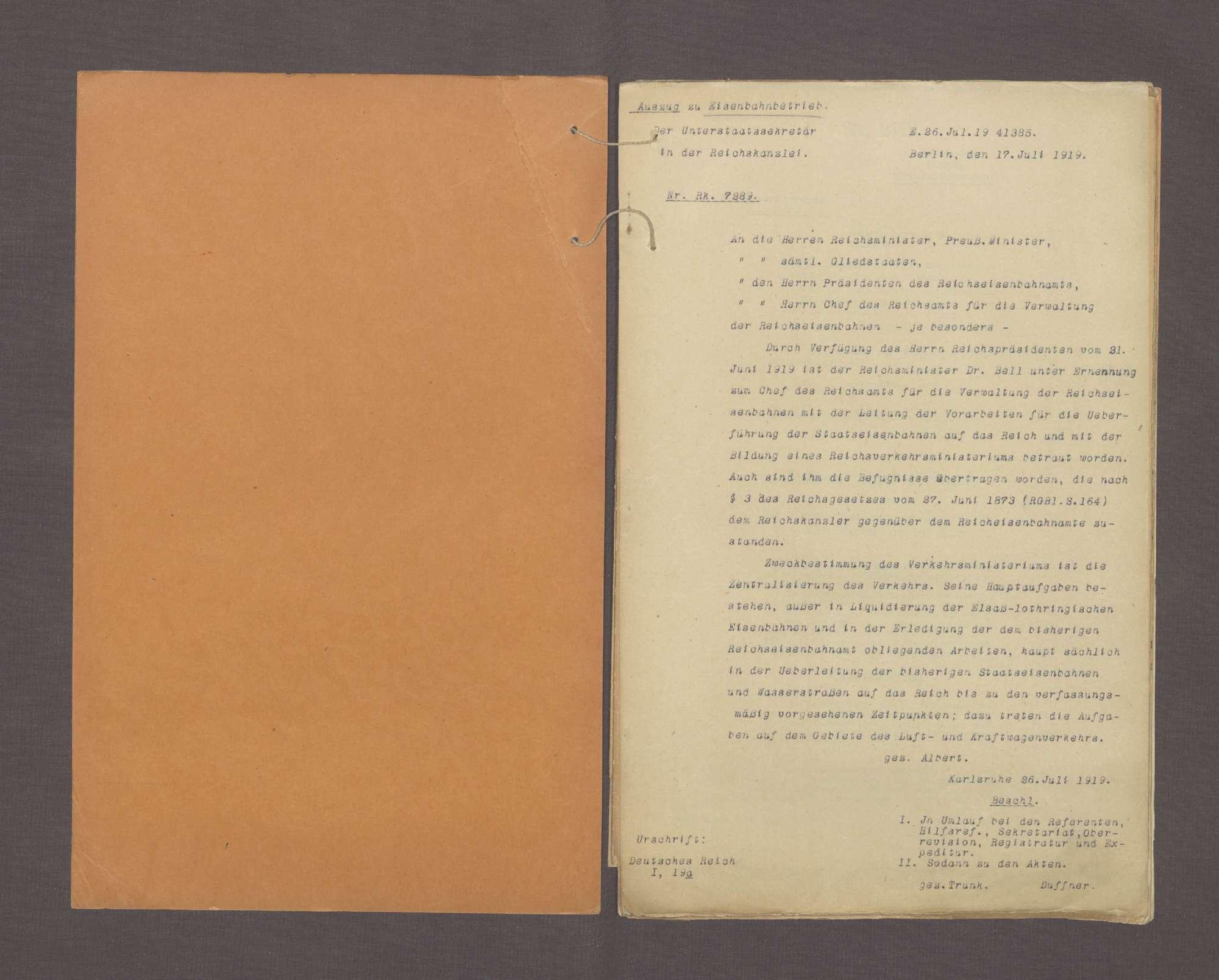 Übergang der Staatseisenbahnen auf das Reich (Normalia), Bild 2