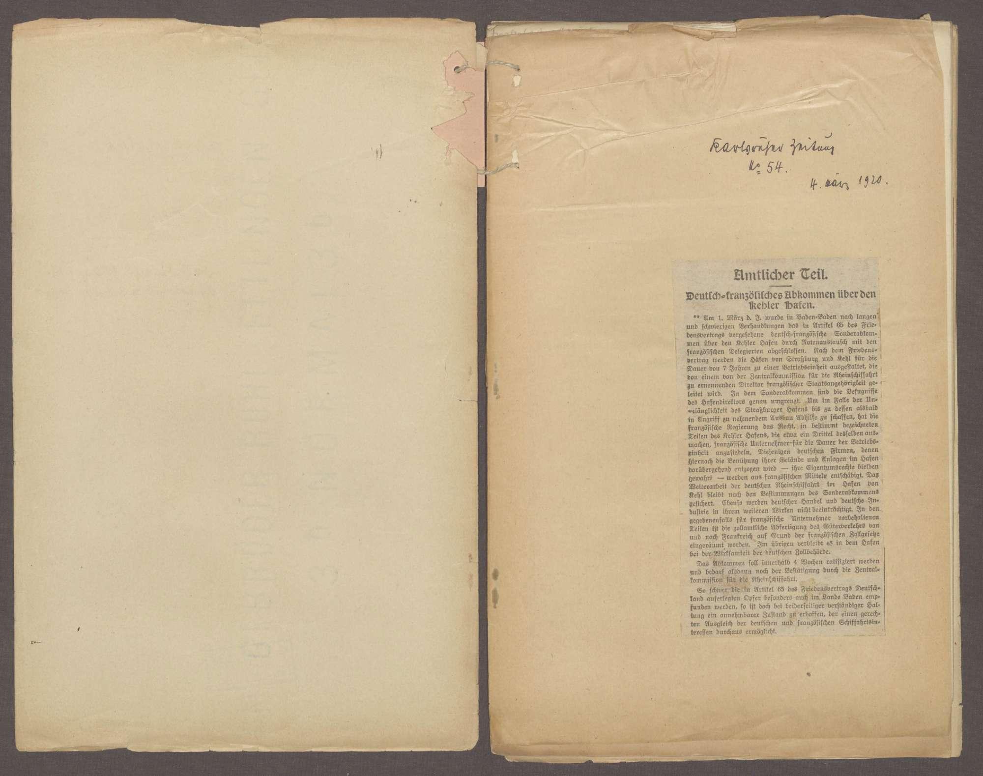 Deutsch-französisches Abkommen über den Kehler Hafen (Generalia), Bild 2