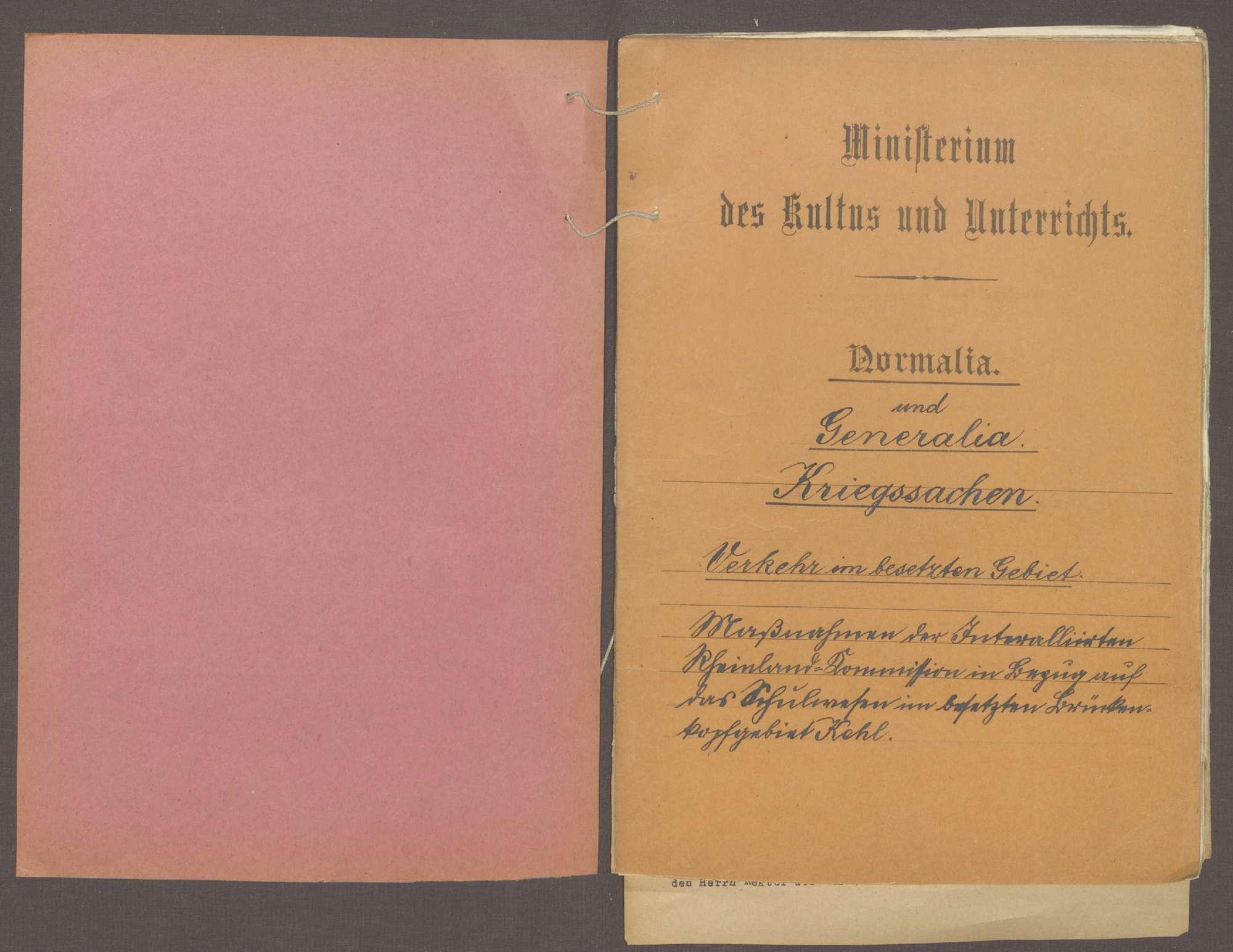 Maßnahmen der Interalliierten Rheinlandkommission in Bezug auf das Schulwesen, Bild 2