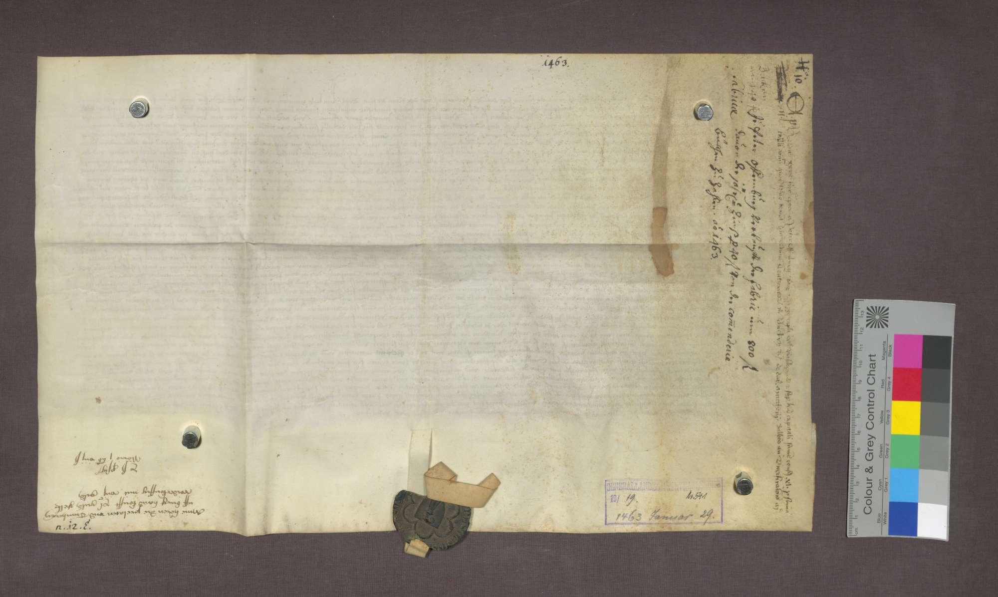 Peter Offenburg verkauft an das Basler Domkapitel eine Schuldverschreibung des Deutsch-Ordens-Hauses in Beuggen, Bild 3