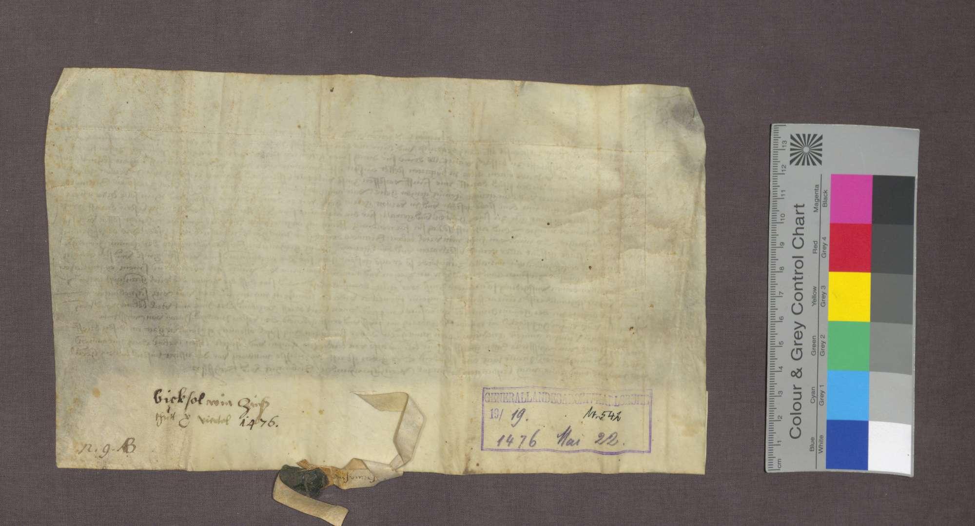 Das Gericht zu Bickensohl spricht dem Gervasius von Pforr in Breisach Güter in Bickensohl wegen rückständiger Weinzinse zu., Bild 2