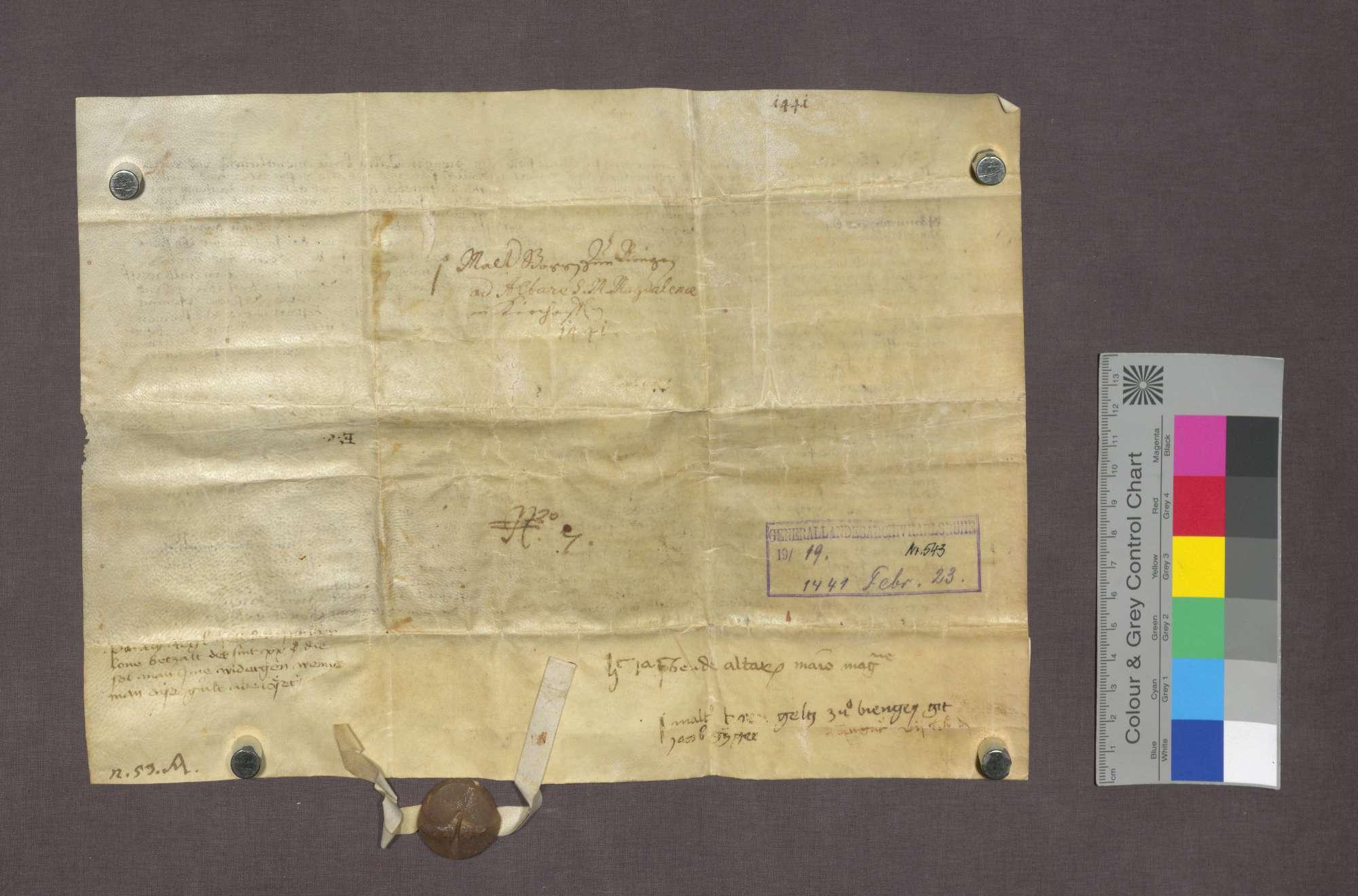 Rudi Winmann von Biengen und seine Ehefrau verschreiben dem Pantly Reck in Kirchhofen eine Roggengült., Bild 2