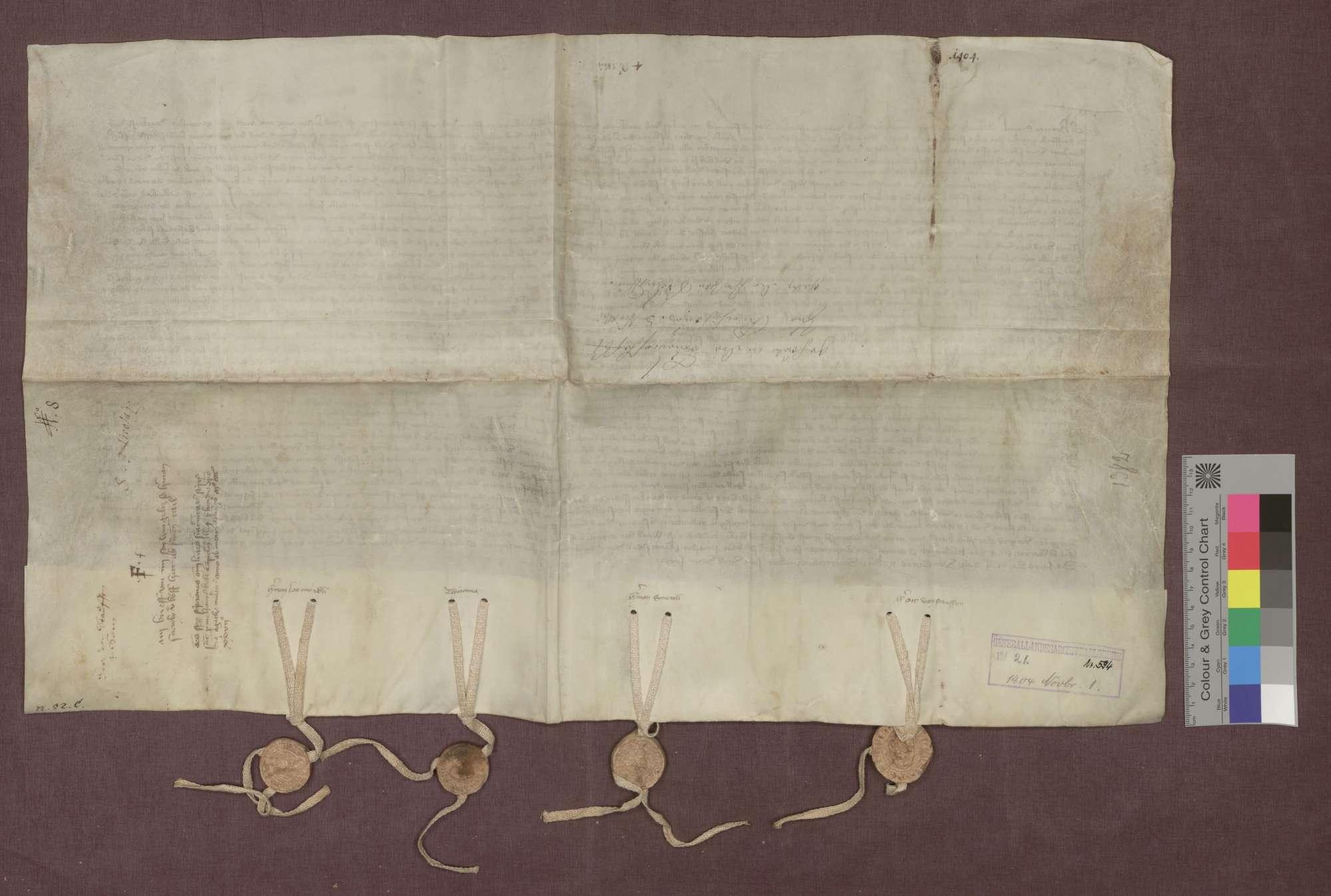 Der Edelknecht Hermann Schnewli verkauft eine Weingült zu Ehrenstetten an die Liebfrauen-Bruderschaft zu Kirchhofen., Bild 2