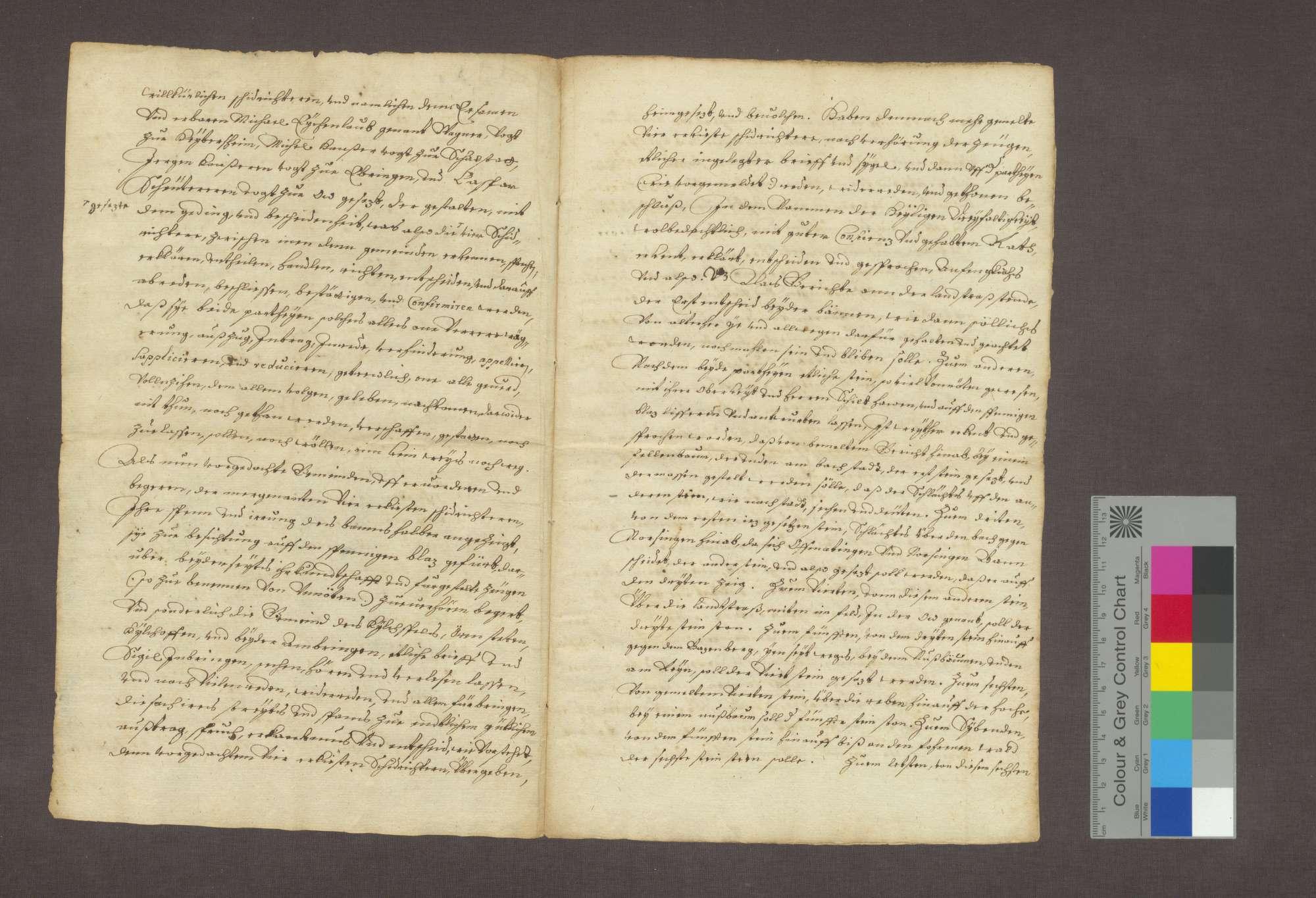 Vergleich zwischen den Gemeinden Ehrenstetten, Kirchhofen und Ambringen einerseits und Offnadingen und Norsingen andererseits wegen der Bannrechte., Bild 2