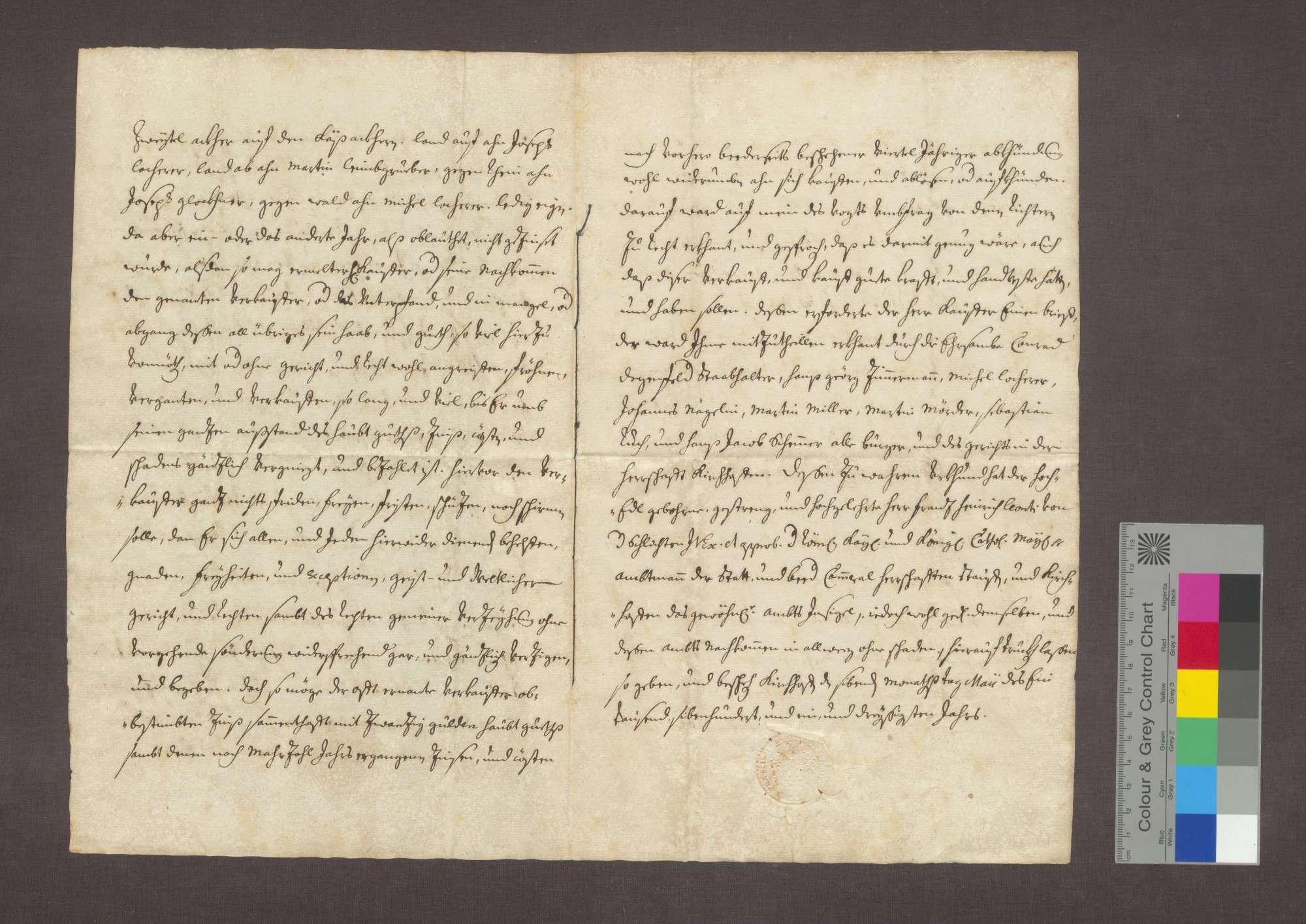 Schuldverschreibung des Hans Jakob Zöringer in Ehrenstetten gegenüber der Frühmesse in Kirchhofen., Bild 2