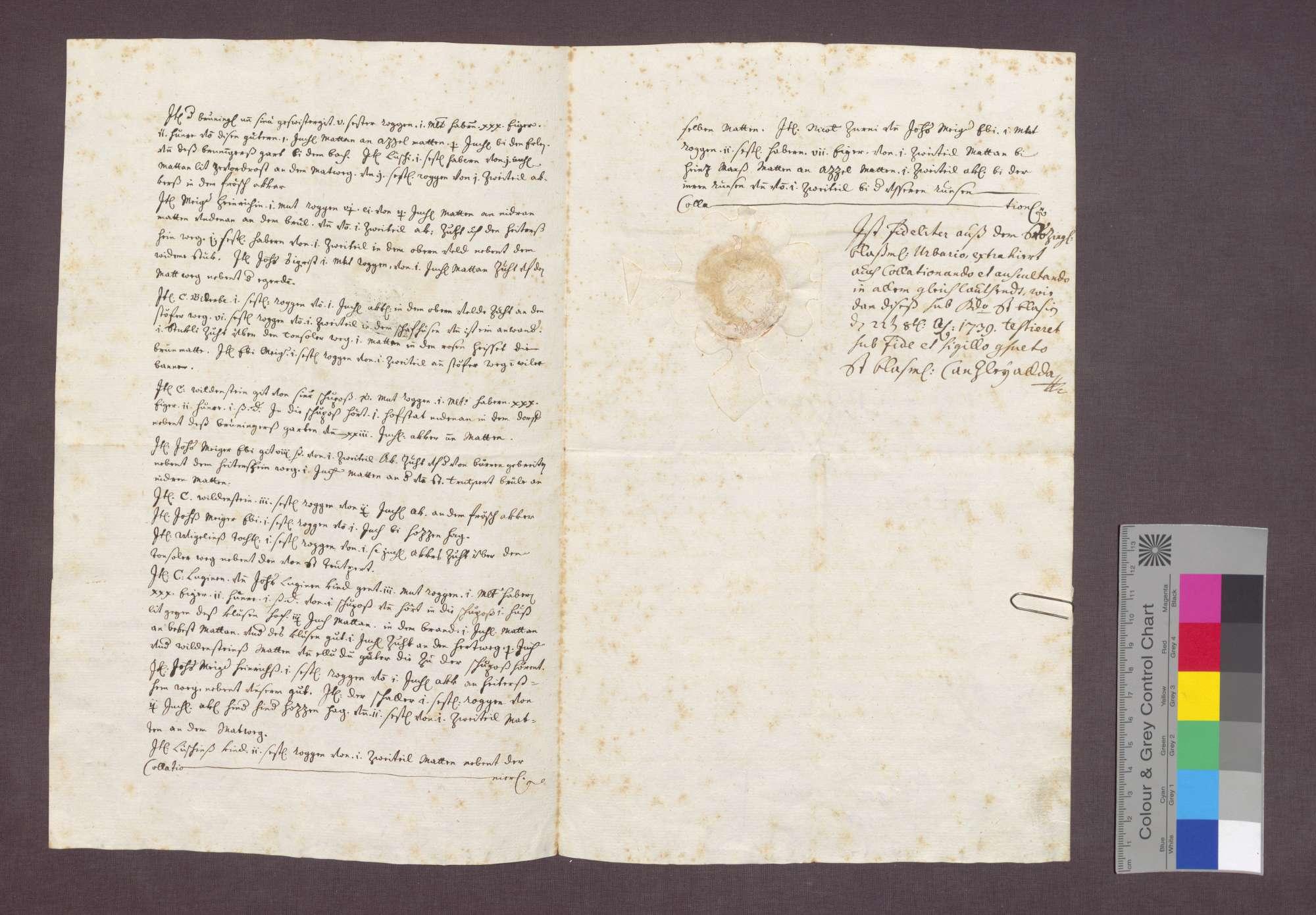 Beschreibung von Gütern und Gülten der Abtei St. Blasien zu Gallenweiler., Bild 2