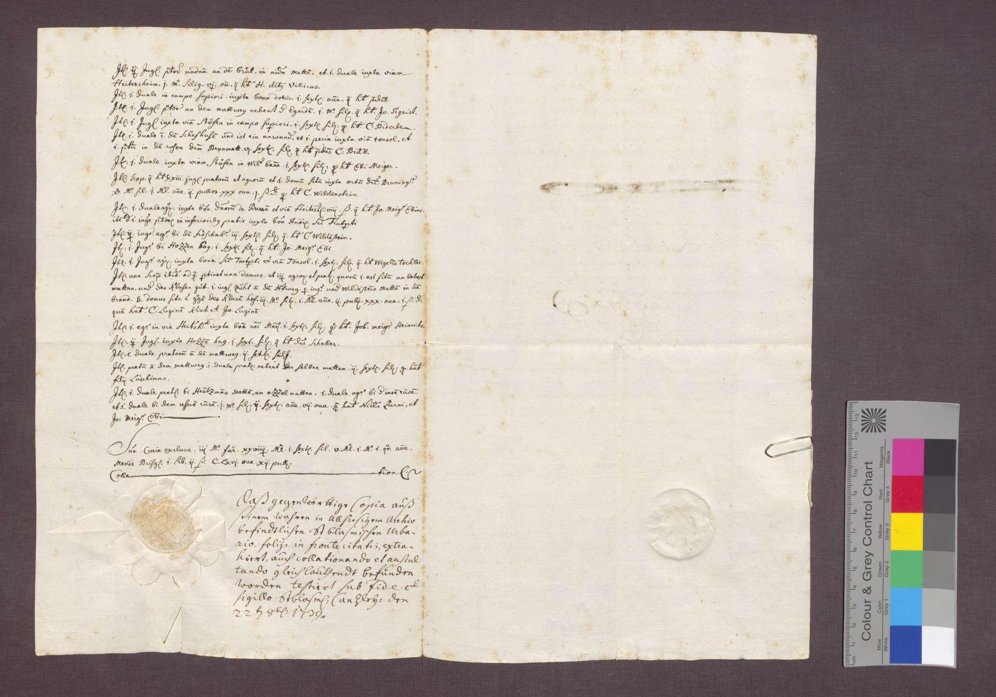 Beschreibung der Zinse der Abtei St. Blasien zu Gallenweiler., Bild 2