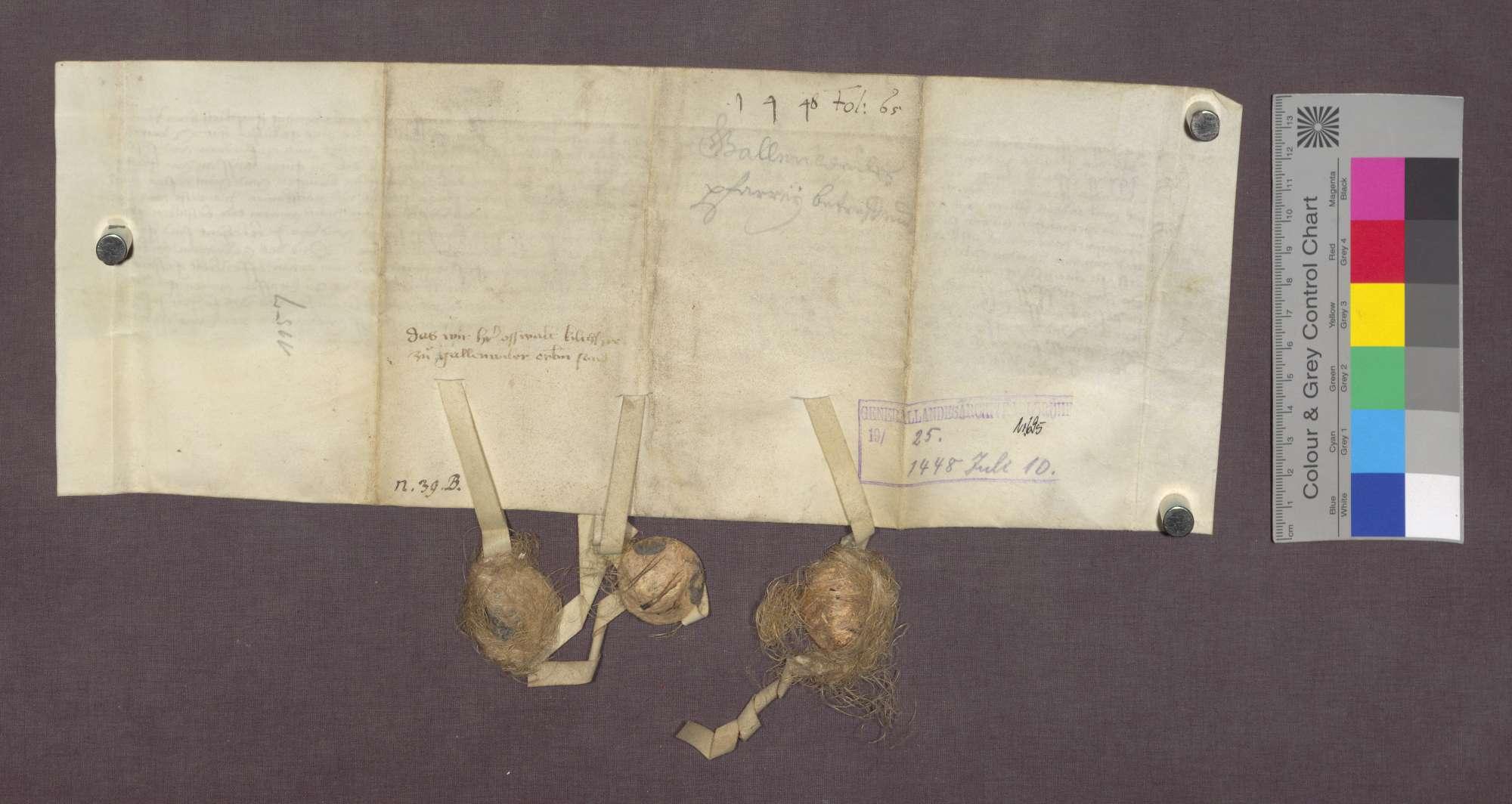 Revers des Oswald Herly gegenüber die Abtei St. Blasien über die Bestallung zum Pfarrer in Gallenweiler., Bild 2