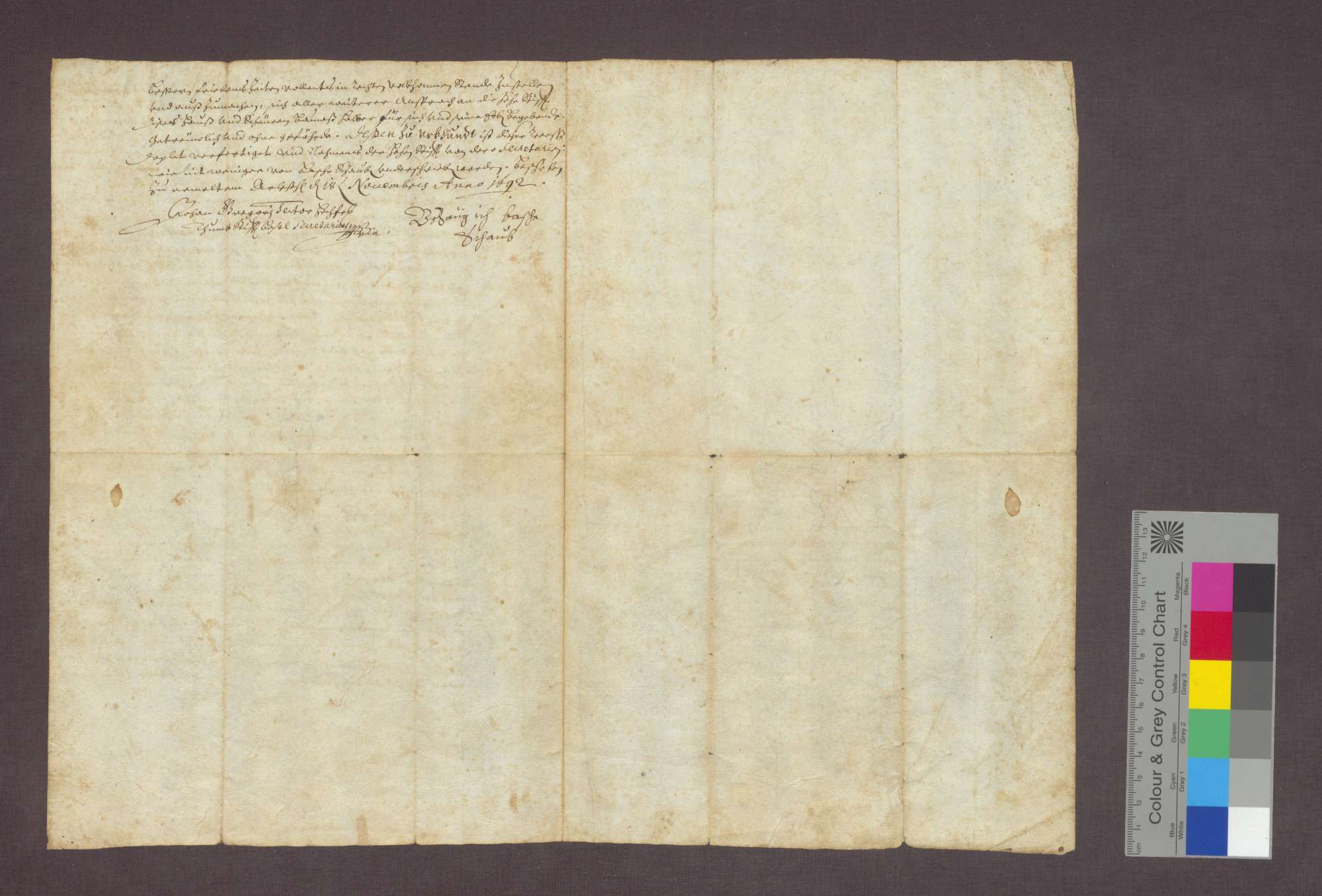 Verlgeich zwischen dem Domstift Basel und Basche Schaub von Gallenweiler über die Wiedererichtung seines niedergebrannten Lehenshofs., Bild 2