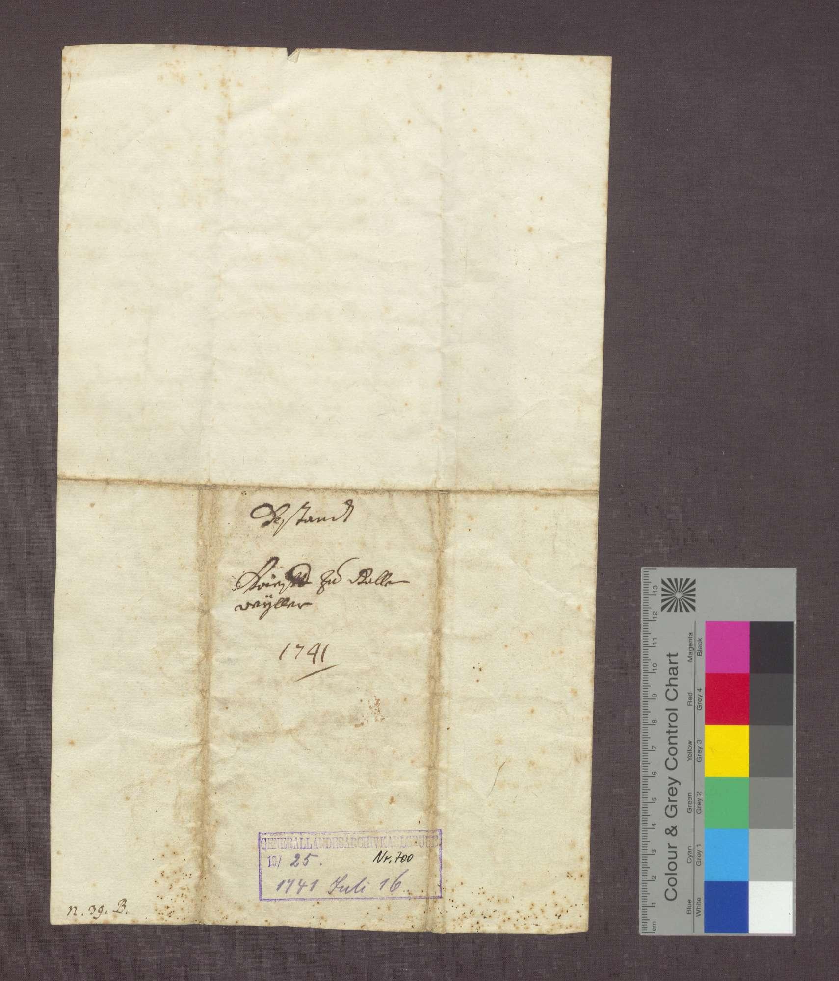 Bestandsbrief des Domstift Basler Zehnten zu Gallenweiler für Johann Litschin zu Krozingen., Bild 2