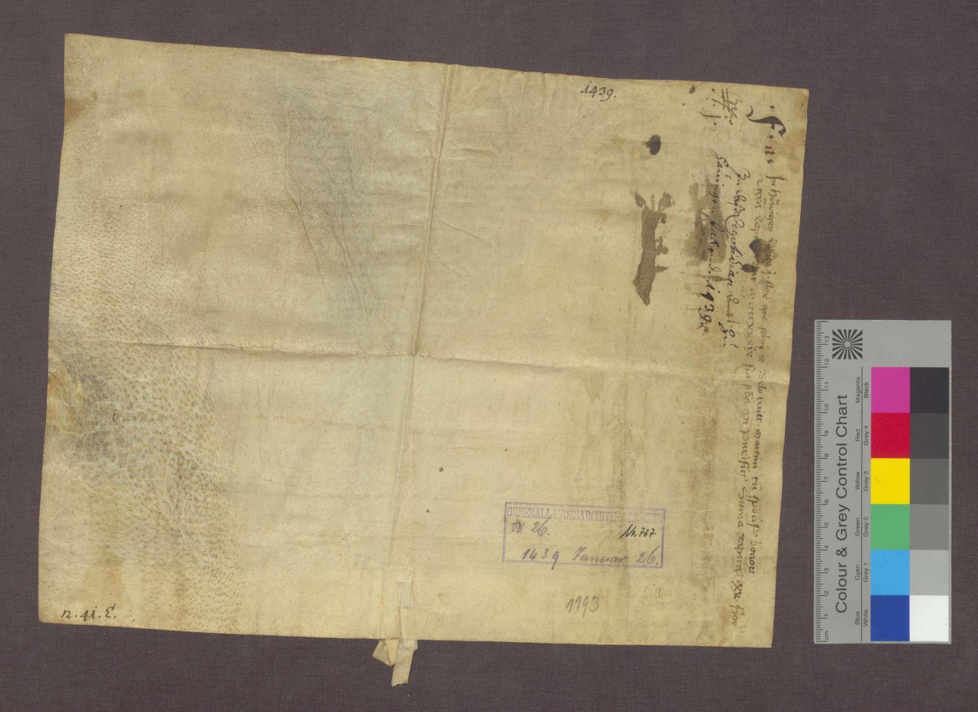 Belytrutt von Hauingen verschreibt dem Basler Domkapitel eine Gült., Bild 2